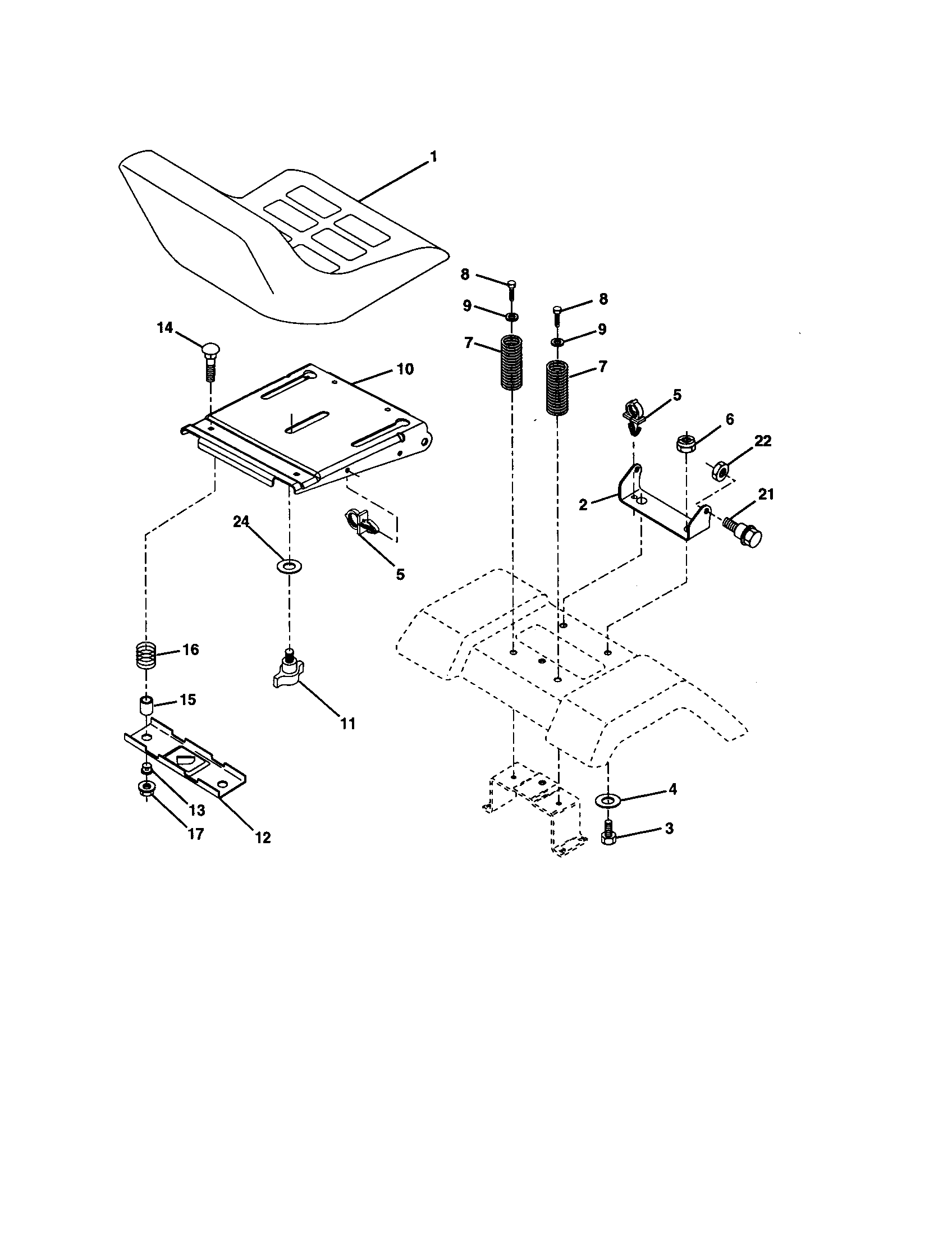 Craftsman 917278041 seat assembly diagram