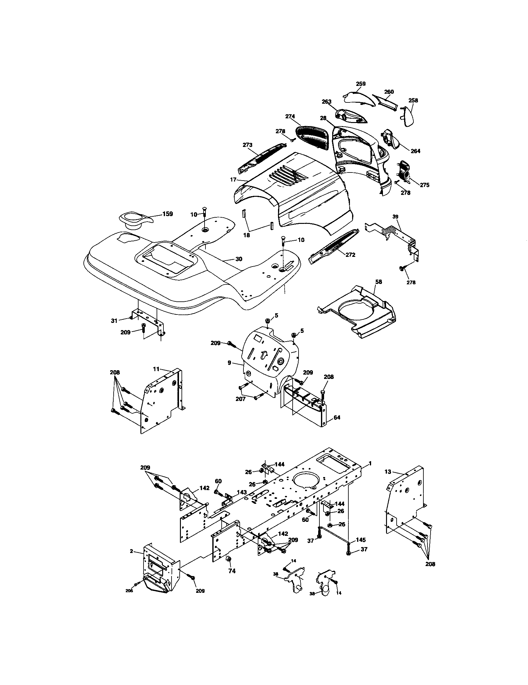 Craftsman 917275820 chassis and enclosures diagram