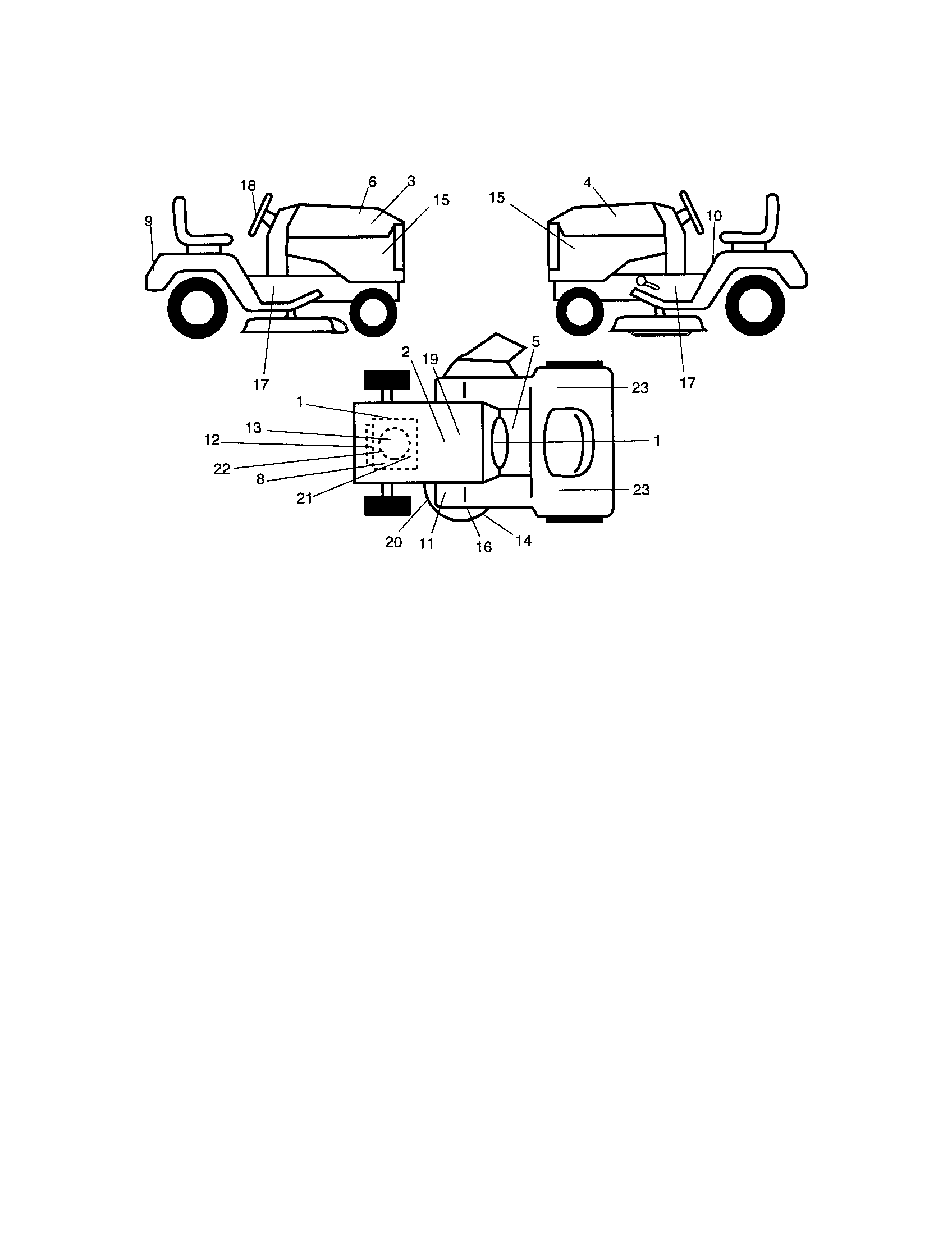 Craftsman Model 917276360 Lawn Tractor Genuine Parts Briggs And Stratton Engine Diagram List For