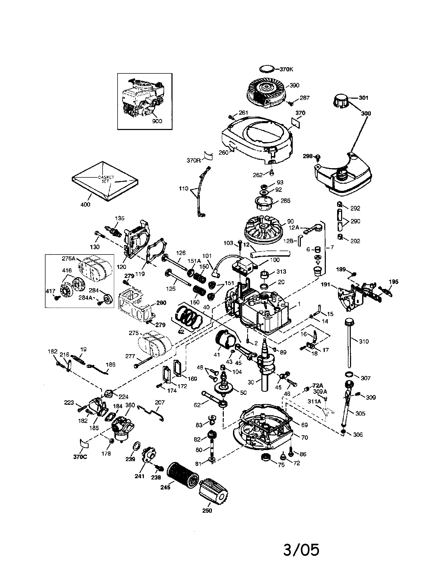 craftsman model 143044500 engine genuine parts rh searspartsdirect com tecumseh engine diagrams 0hh60 tecumseh hm100 engine diagram