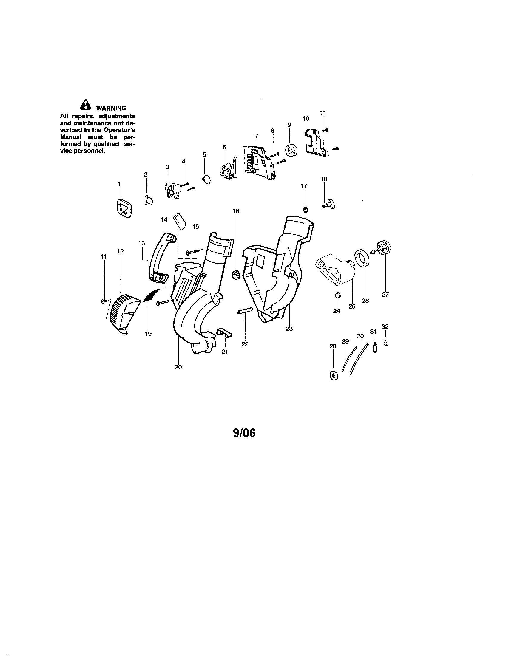 Poulan  Blower  Housing/handle