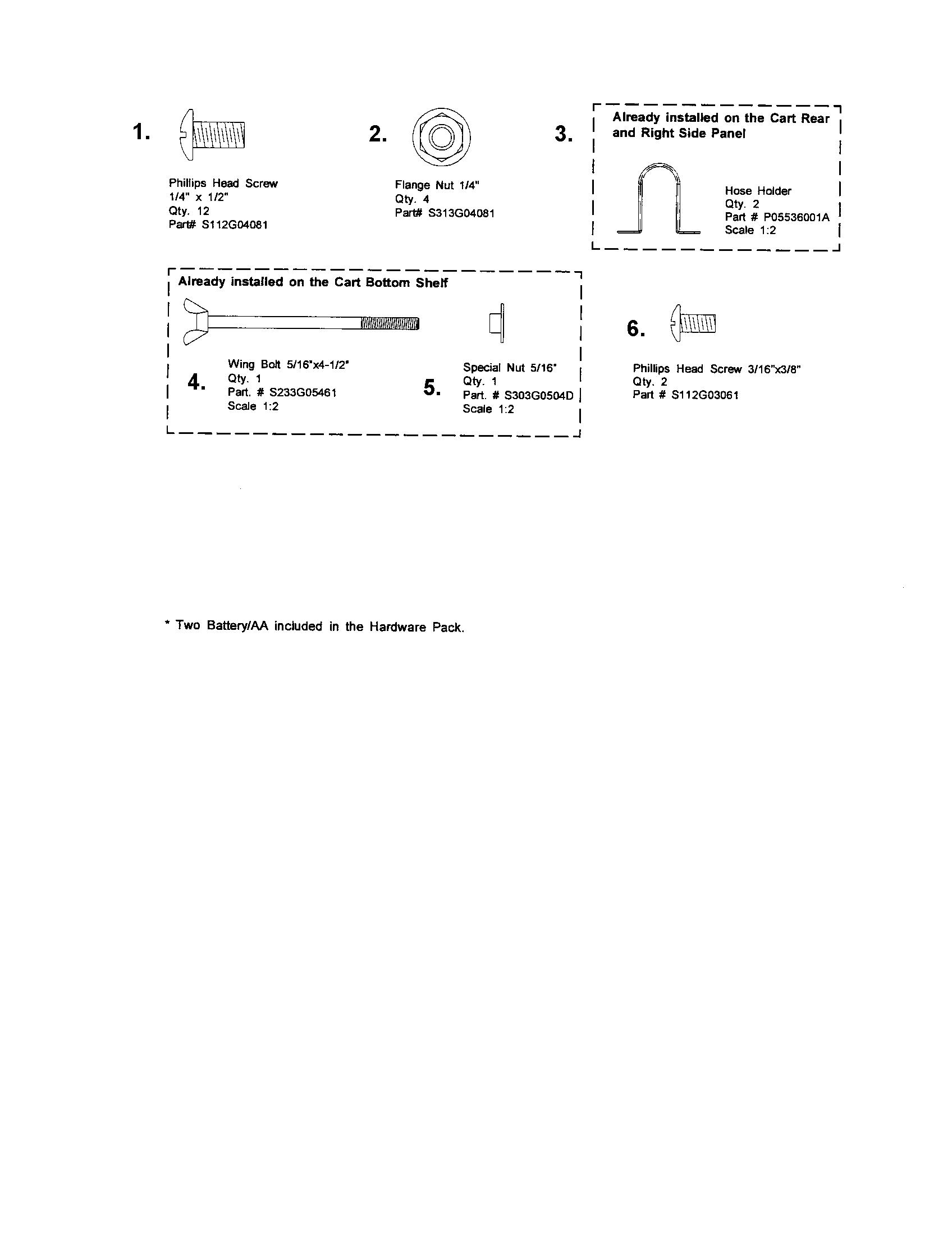 Kenmore Elite  Liquid Propane Gas Grill  Hardware pack diagram
