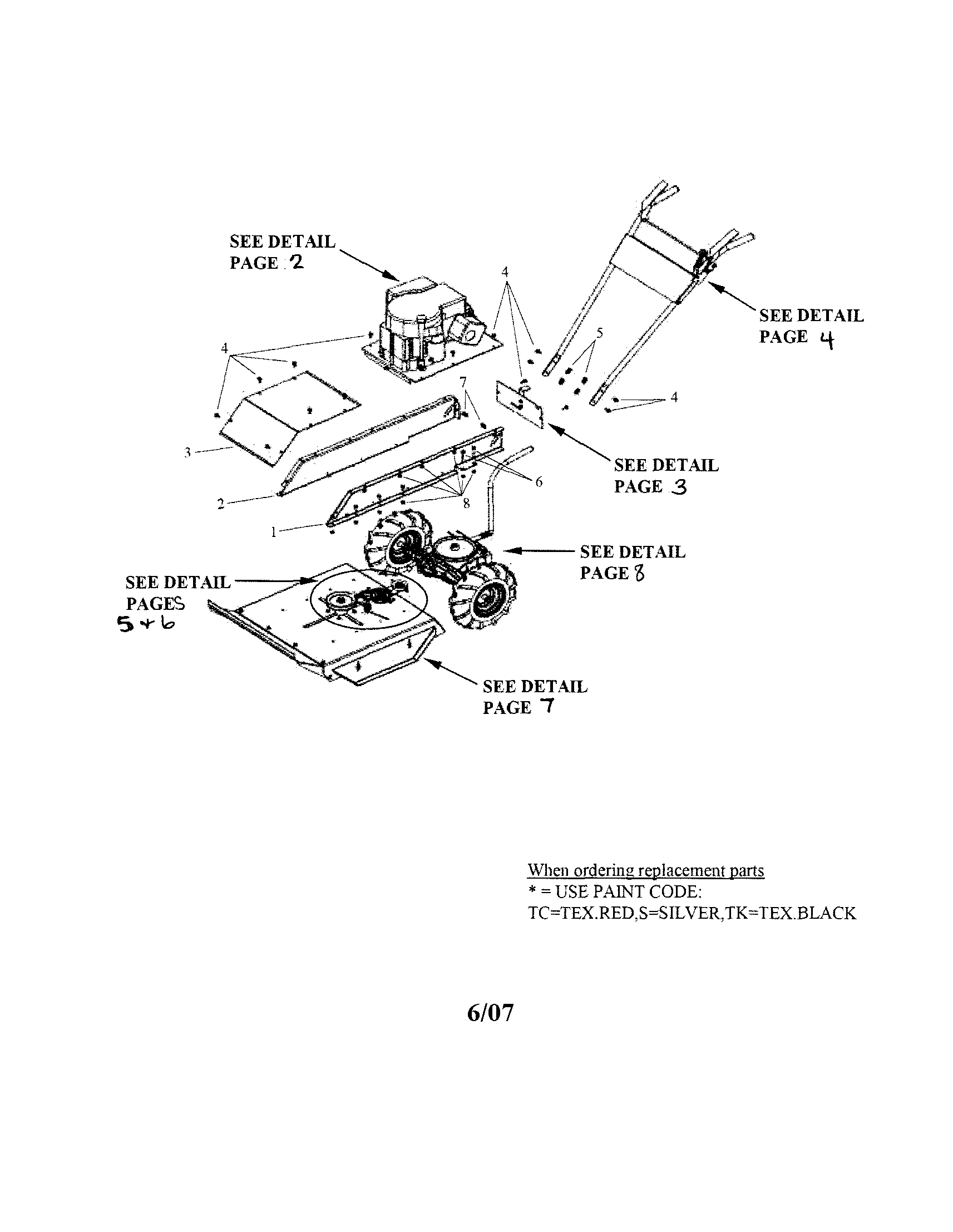 Swisher WB11524 overall assembly diagram