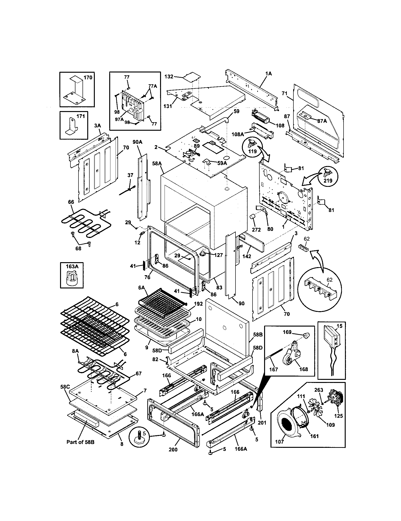 Kenmore Elite 79046703606 body diagram