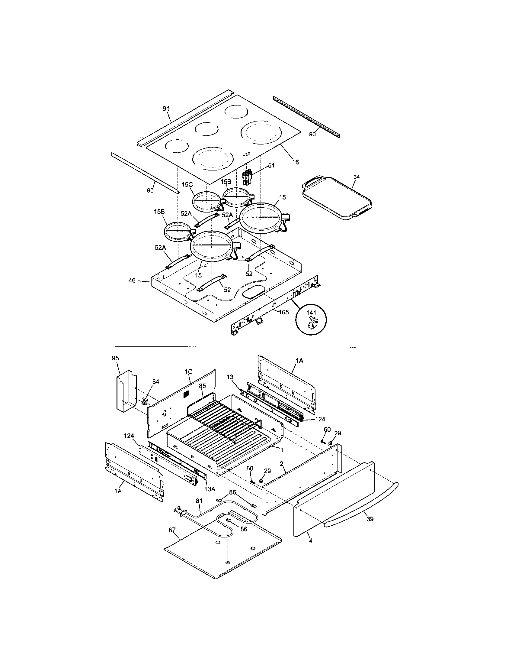 Kenmore Elite 79046703606 top/drawer diagram
