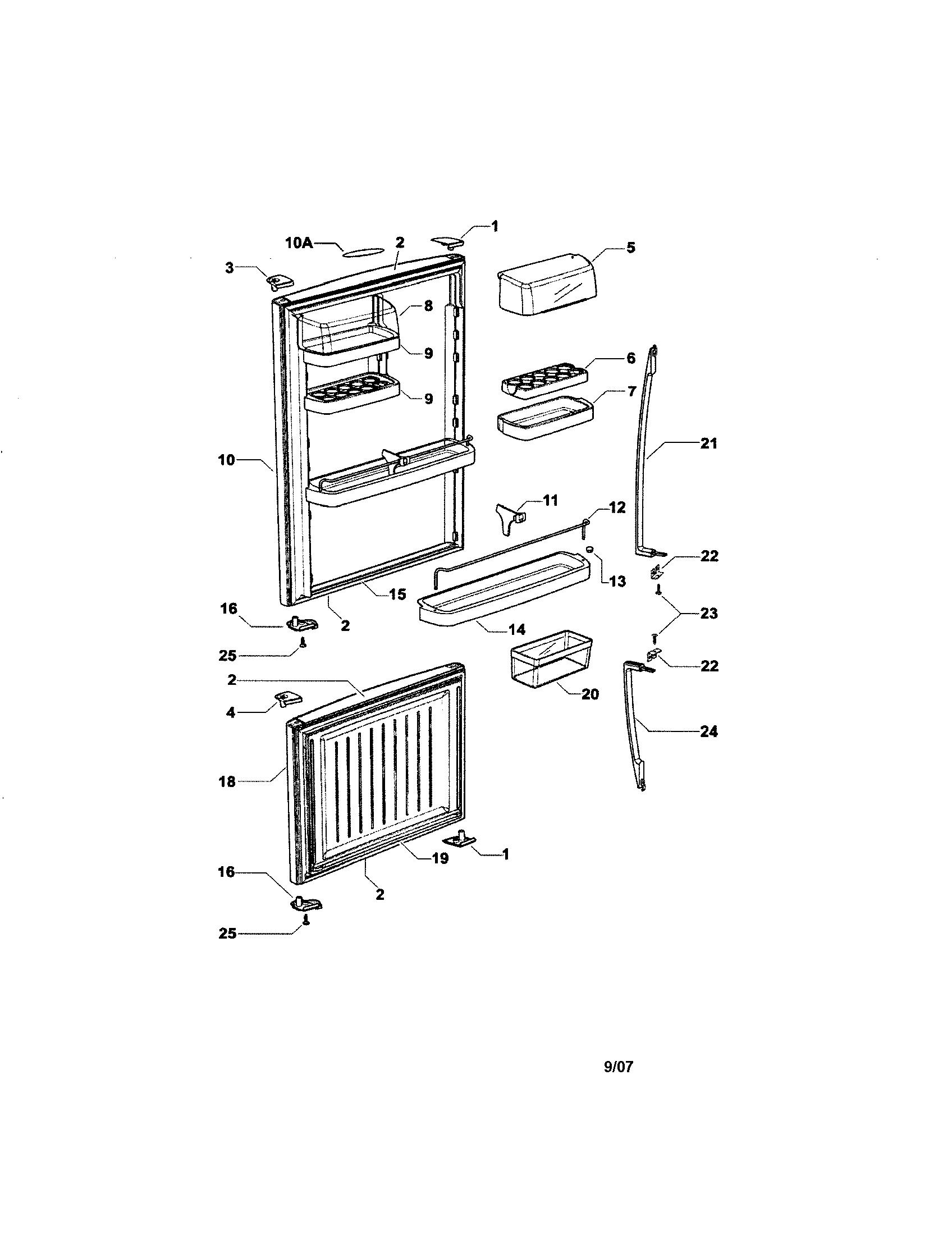 Fisher Paykel  Refrigerator  Doors
