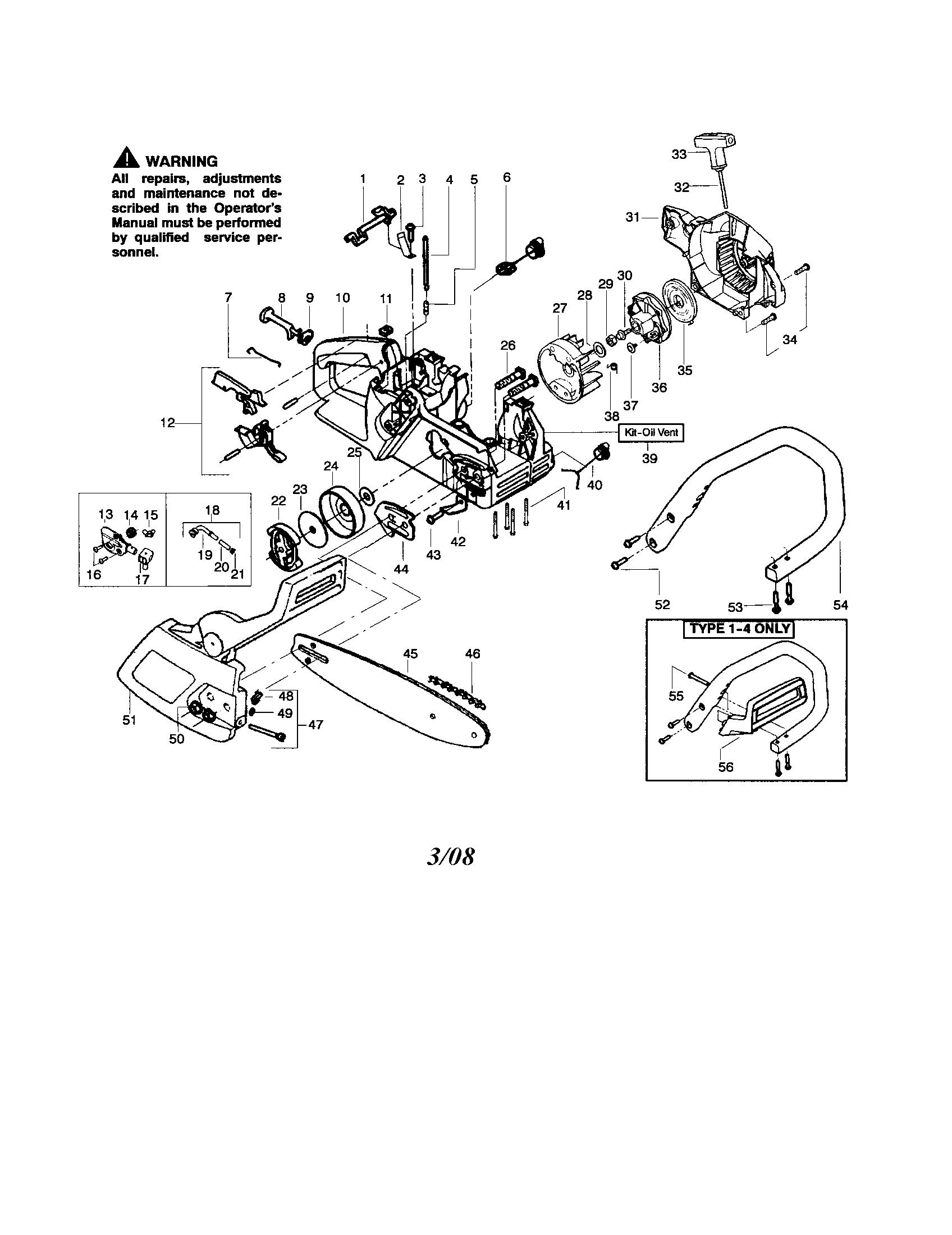 poulan model 1950 type 6 chainsaw gas genuine parts rh searspartsdirect com poulan woodshark 1950 owners manual Poulan Woodshark Spark Plug