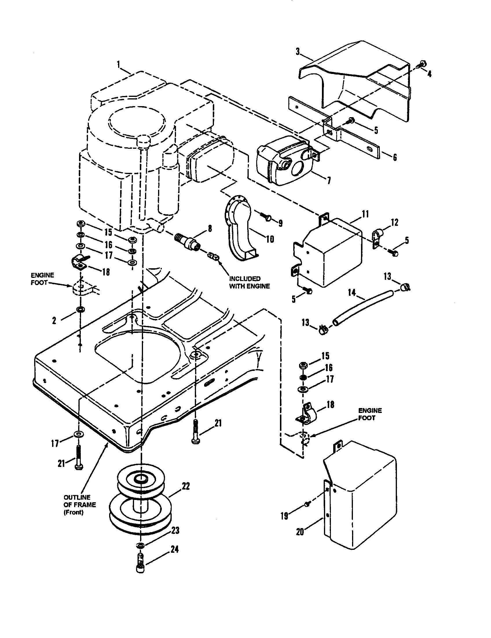 Snapper  Tractor  Engine components