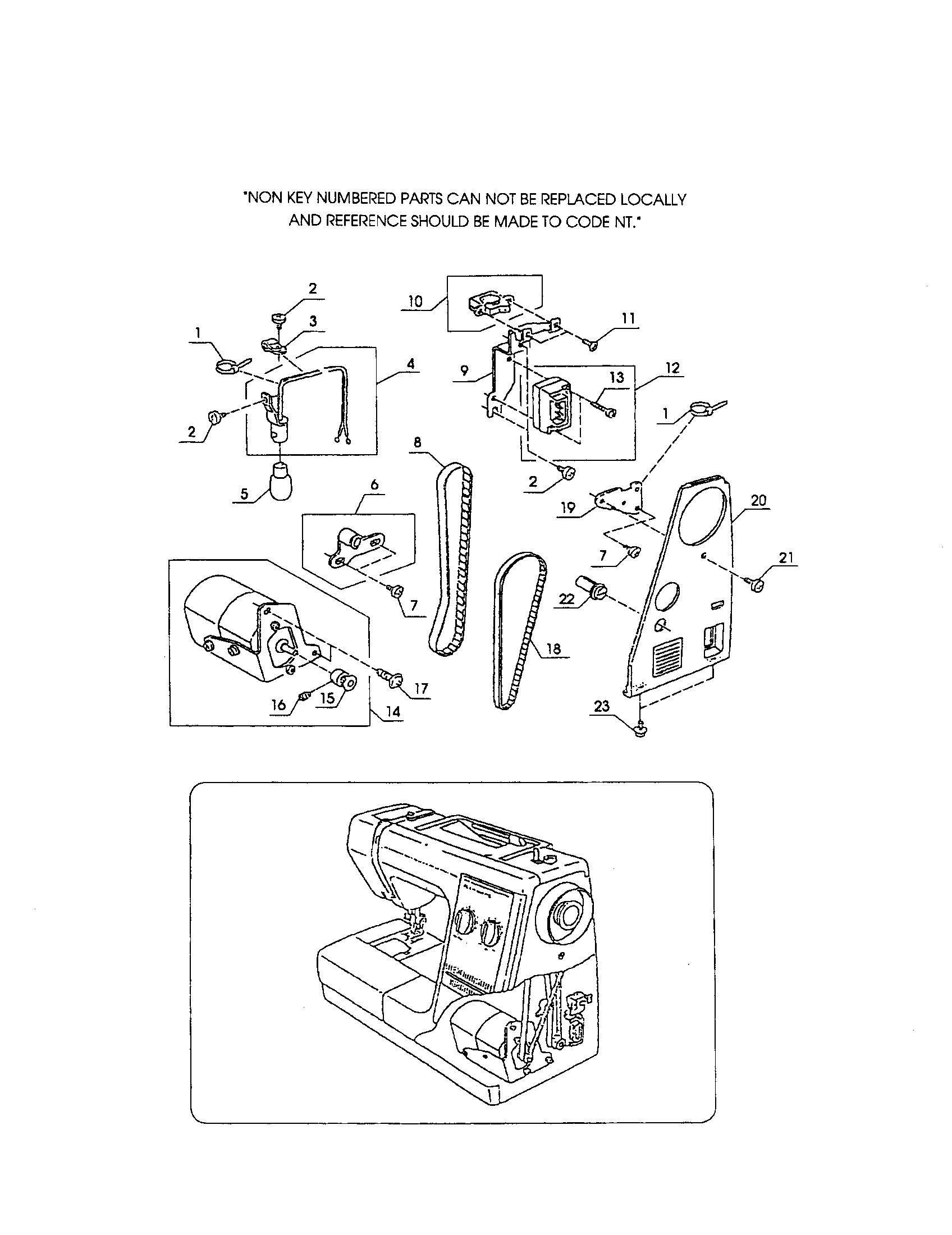 Kenmore  Sewing Machine  Motor/terminal block