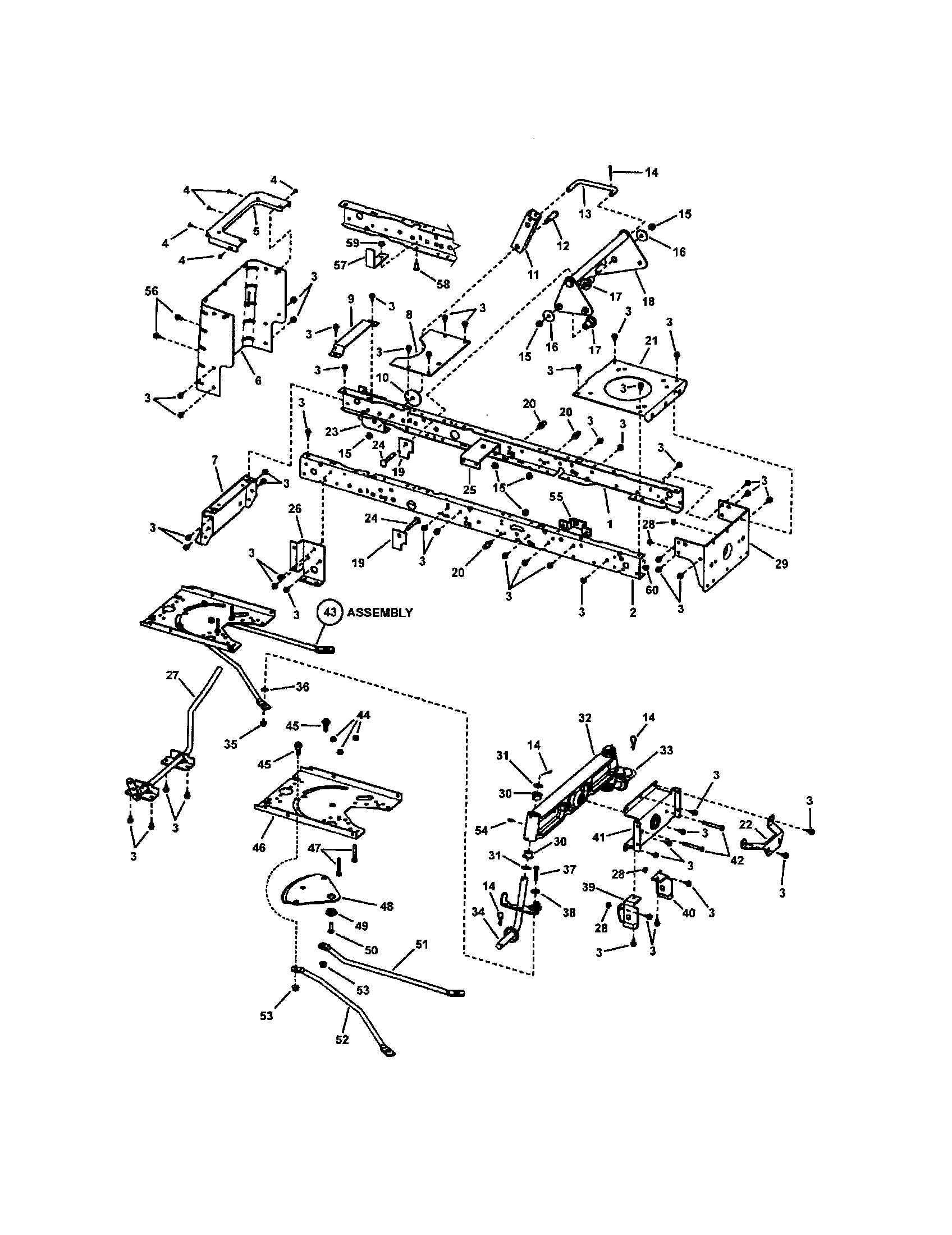 Snapper  Tractor  Main frame