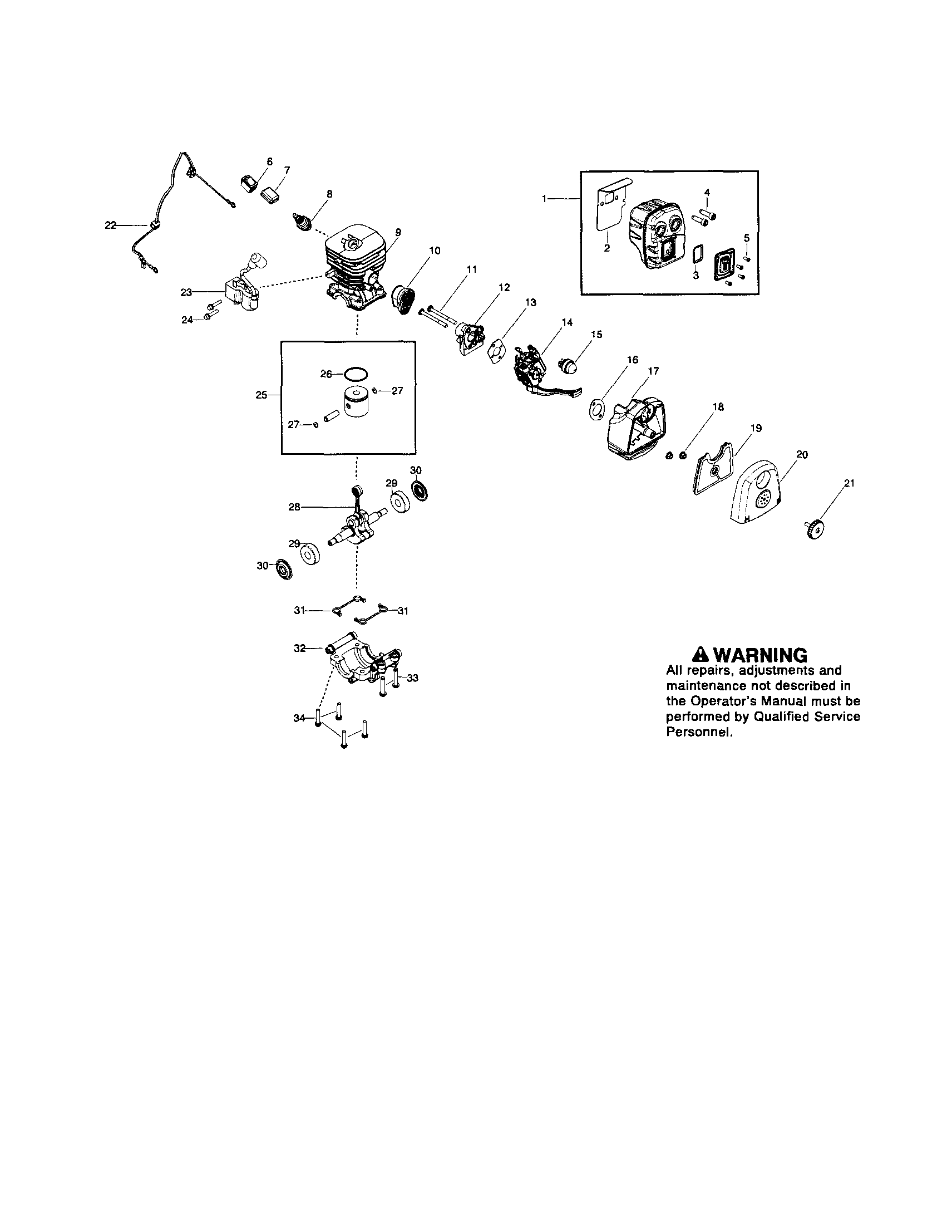 Poulan  Blower (Us(Can) (Jonsered)  Cylinder/muffler/piston