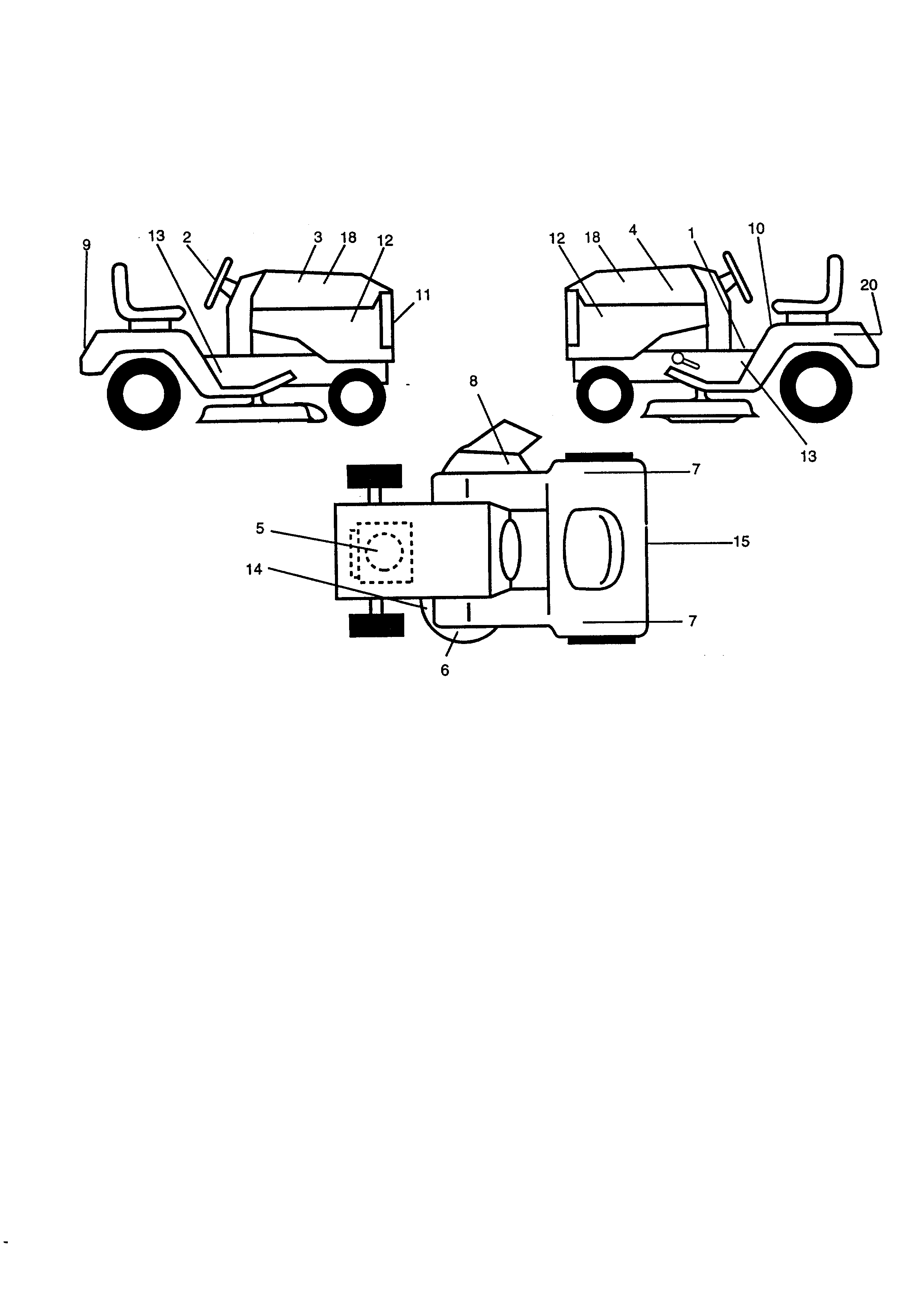 Western Auto Model Ayp9187b89 Lawn Tractor Genuine Parts Rims Single Element Wiring Diagram
