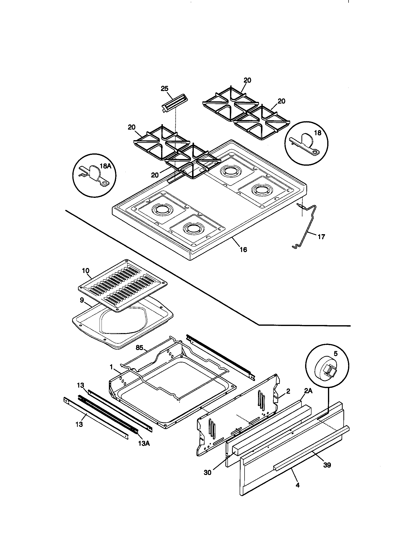 Kenmore 79071106892 top/drawer diagram