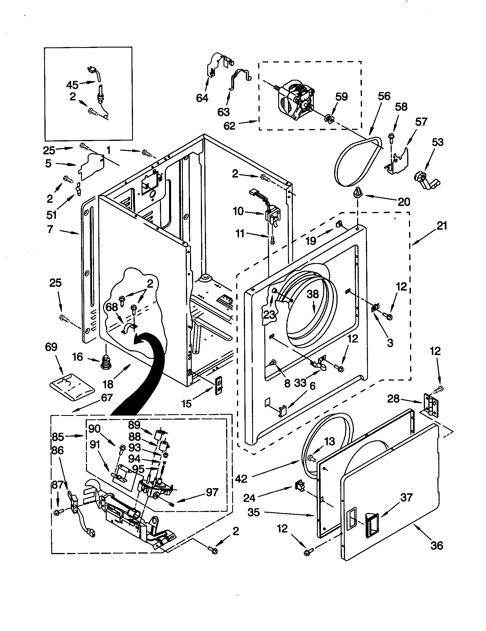 gas dryer diagram