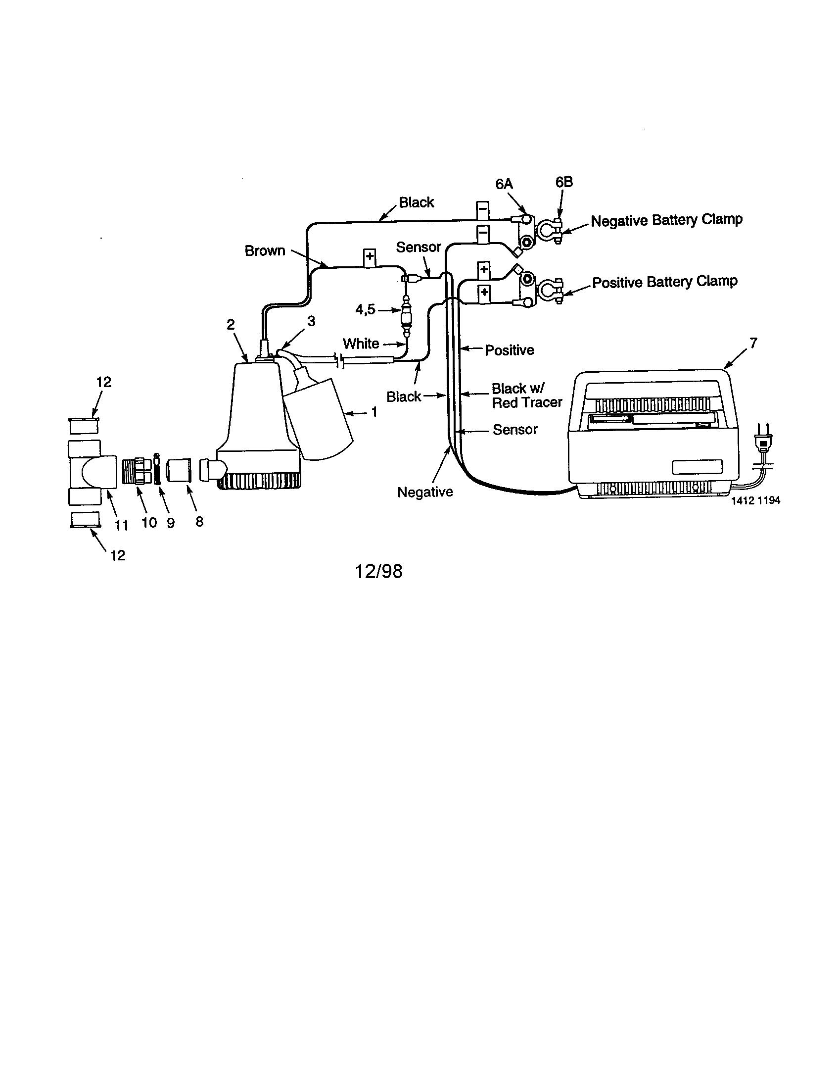 Craftsman Battery Operated Backup Sump Pump Parts