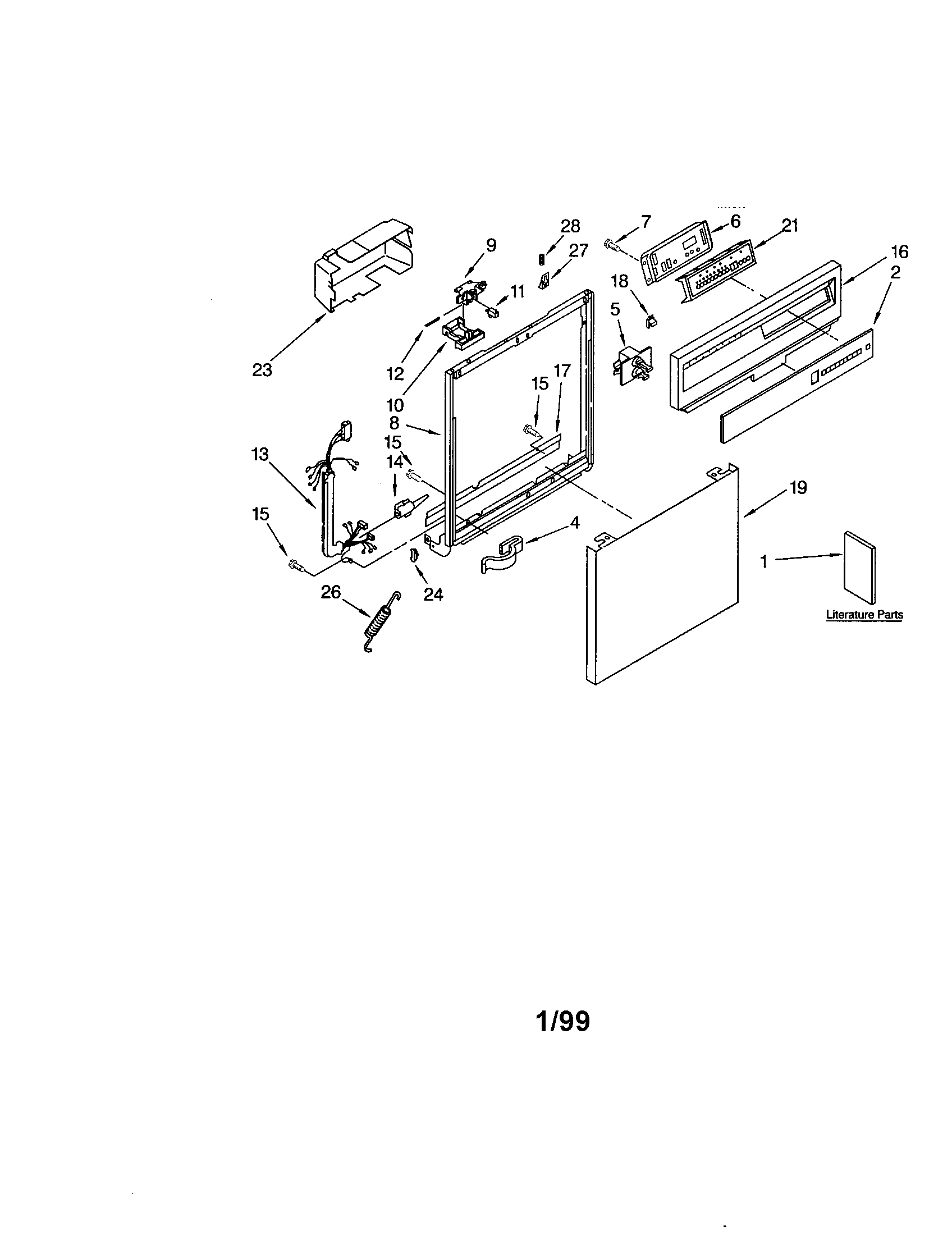 Kenmore 66515805890 frame and console diagram