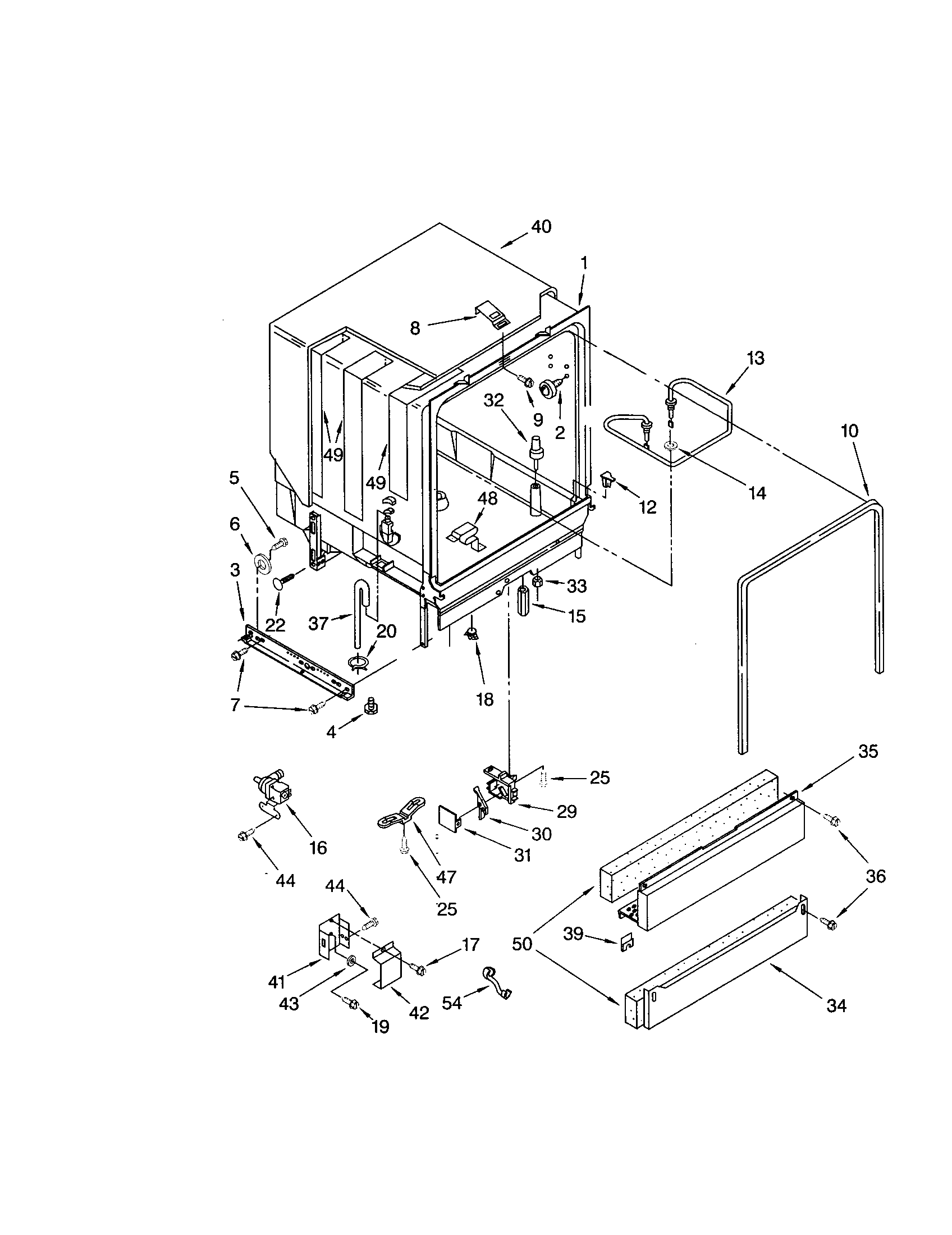 Kenmore 66515805890 tub assembly diagram