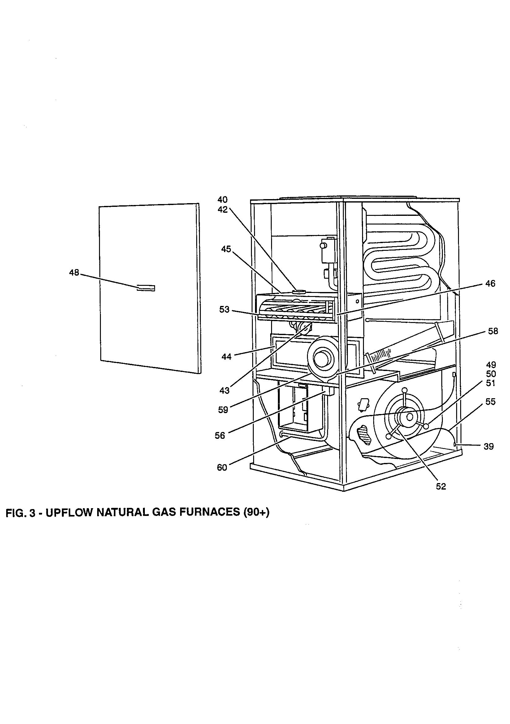 York  Upflow Gas Furnance  Fig. 3