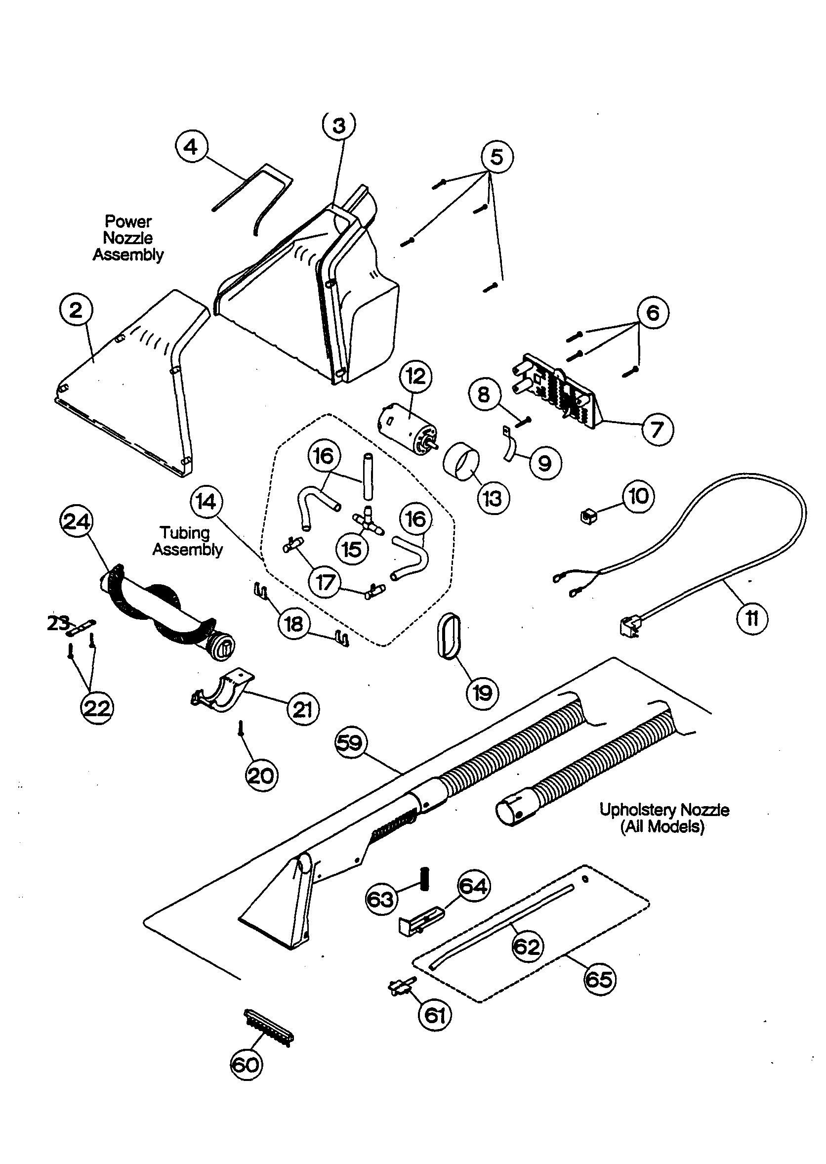 Regina  Powerscrubber  Nozzle assembly