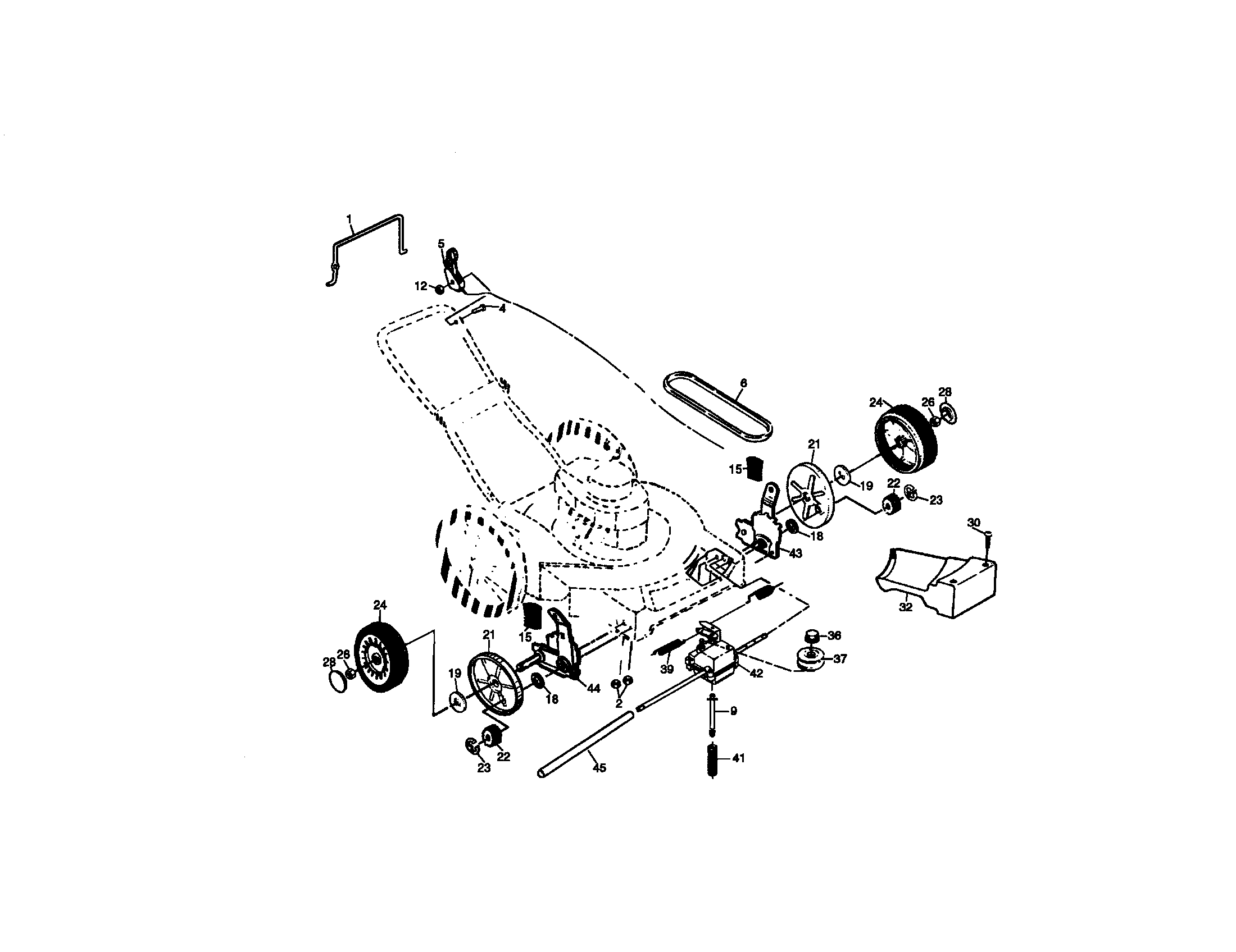 Craftsman 917377423 wheel and tire assembly diagram