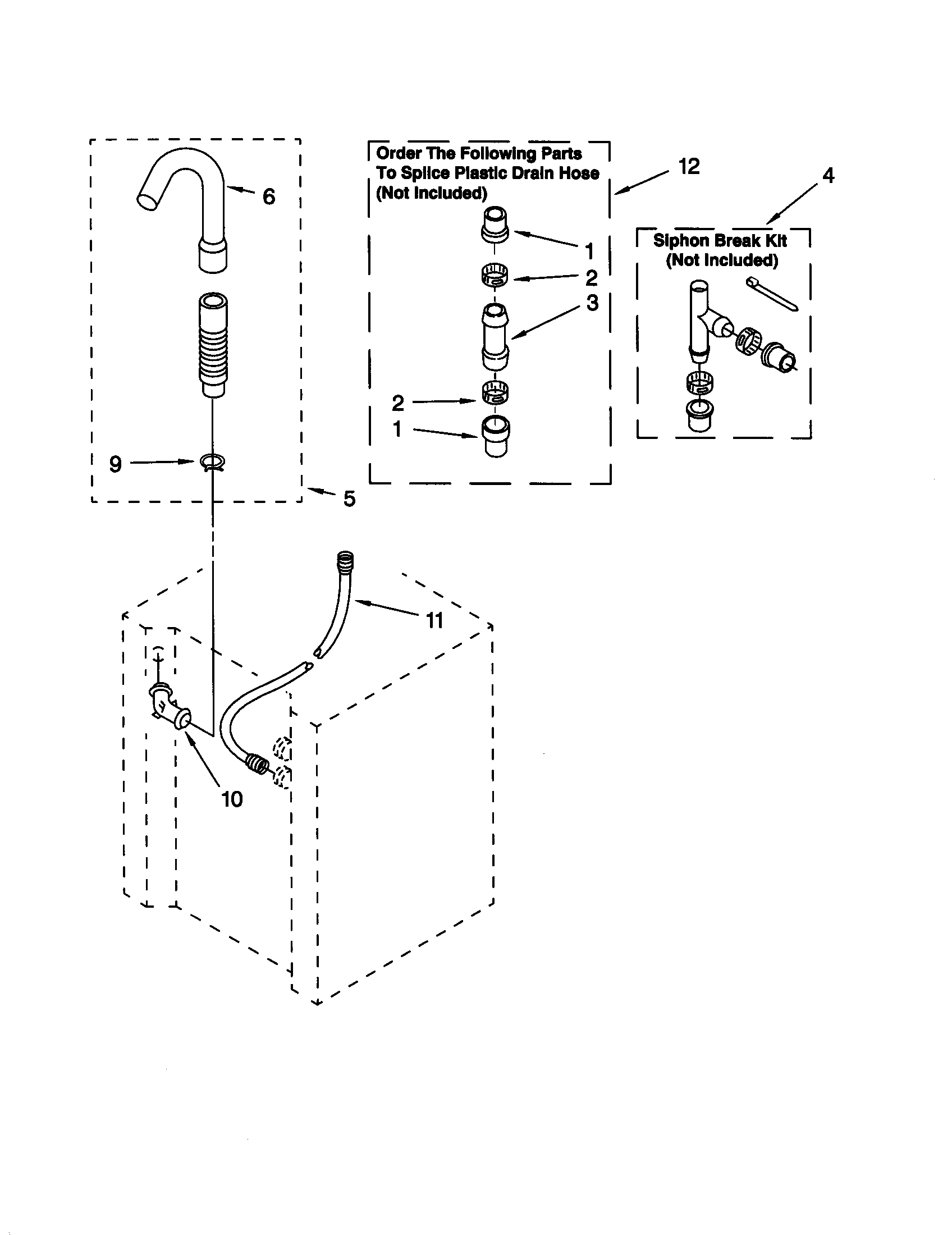 Kenmore 11098752791 washer water system diagram