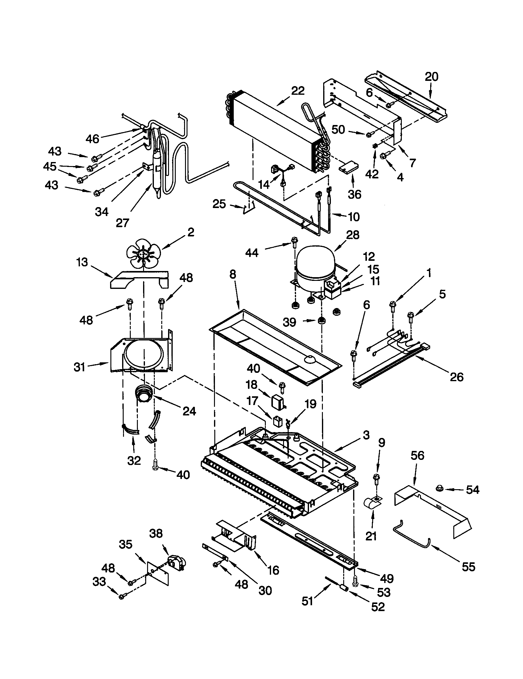 KitchenAid KBRS22KGWH1 unit diagram