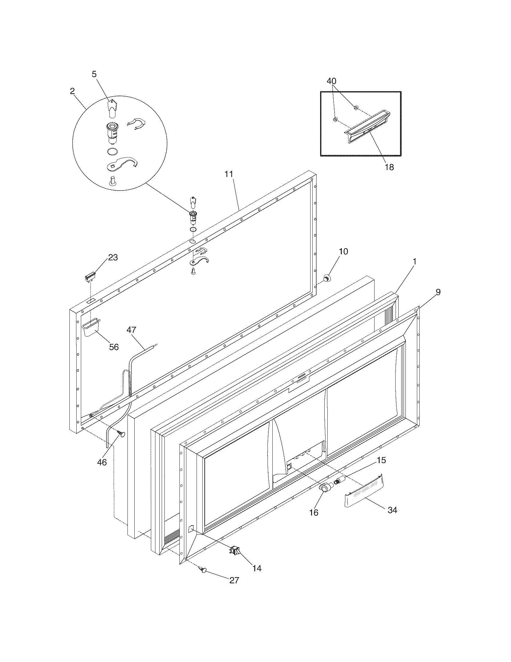 Universal/Multiflex (Frigidaire)  Freezer  Door