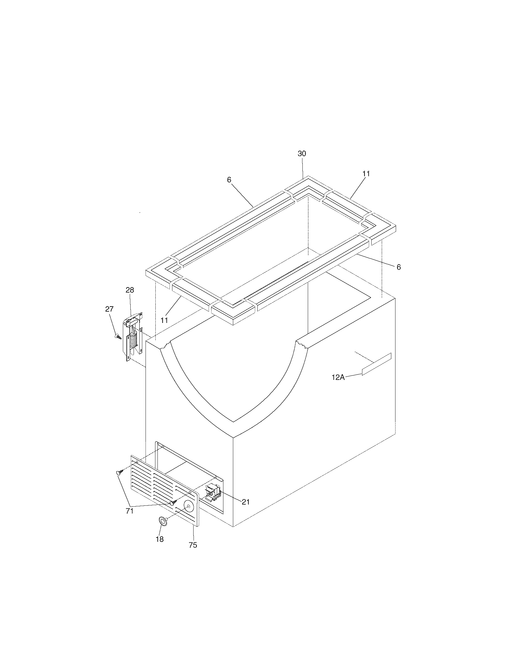 Crosley CFC05M0AW6 cabinet diagram