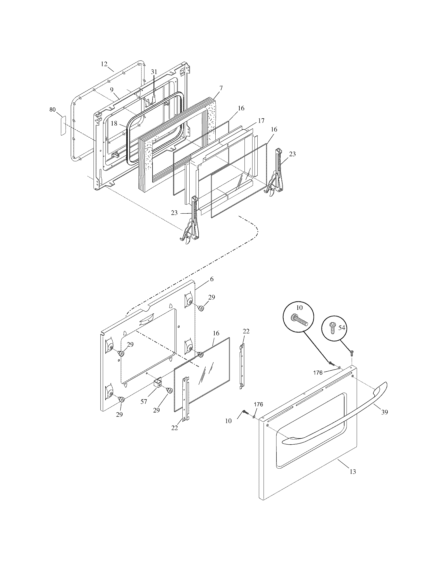 frigidaire dual fuel range backguard parts