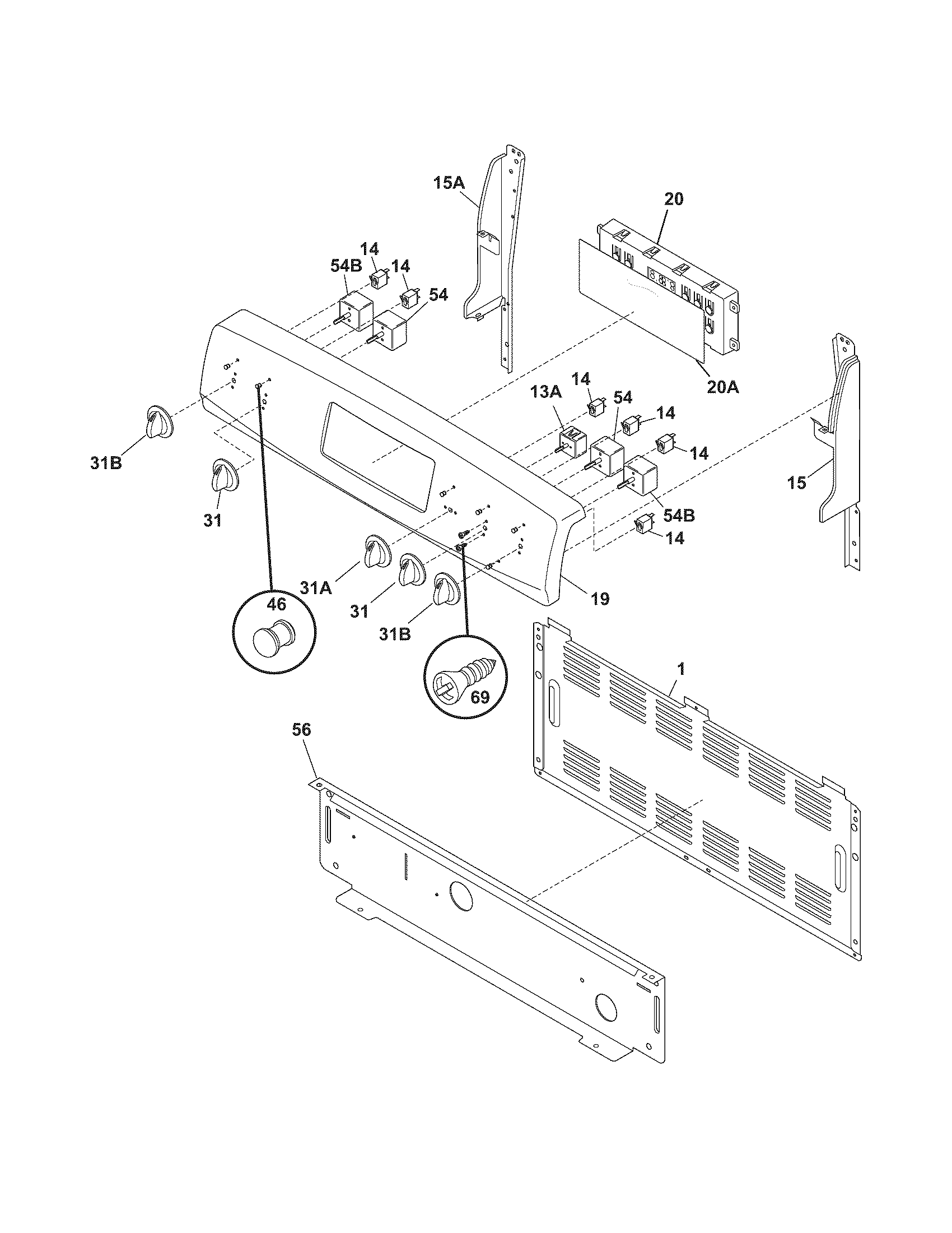 Kenmore 79096343500 backguard diagram