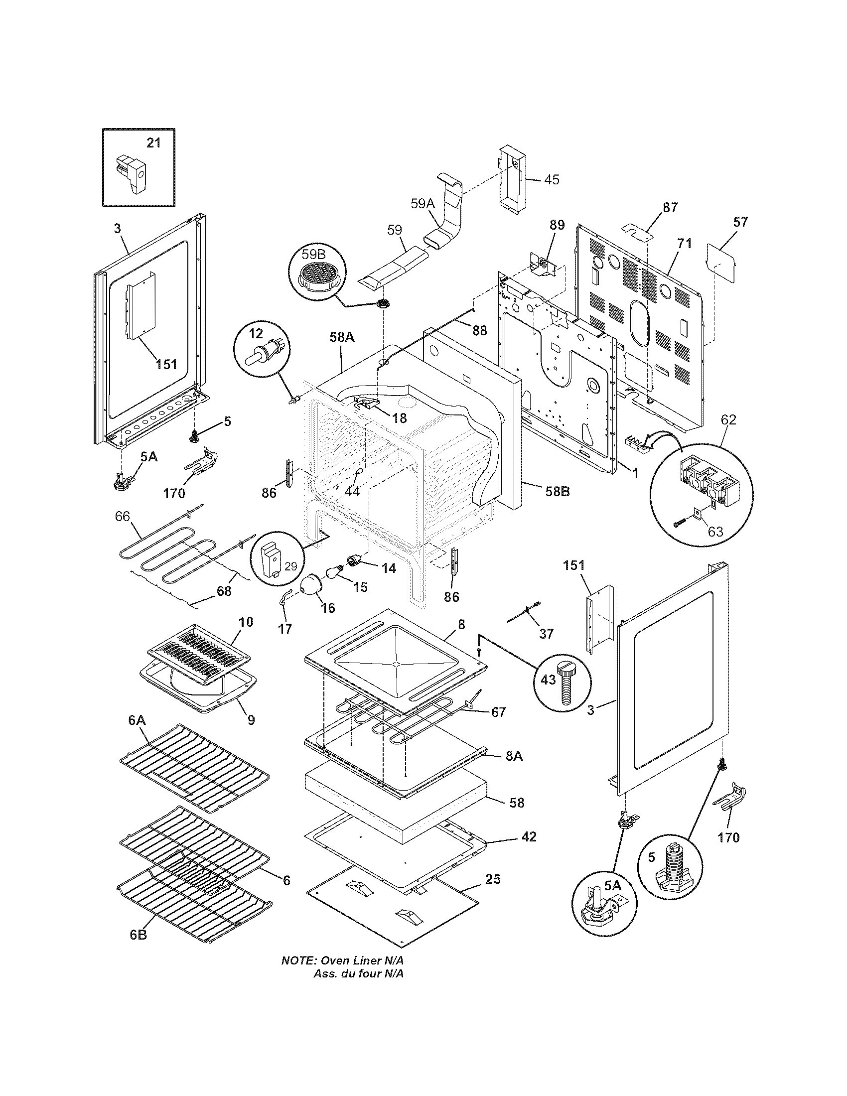 Kenmore 79096343500 body diagram