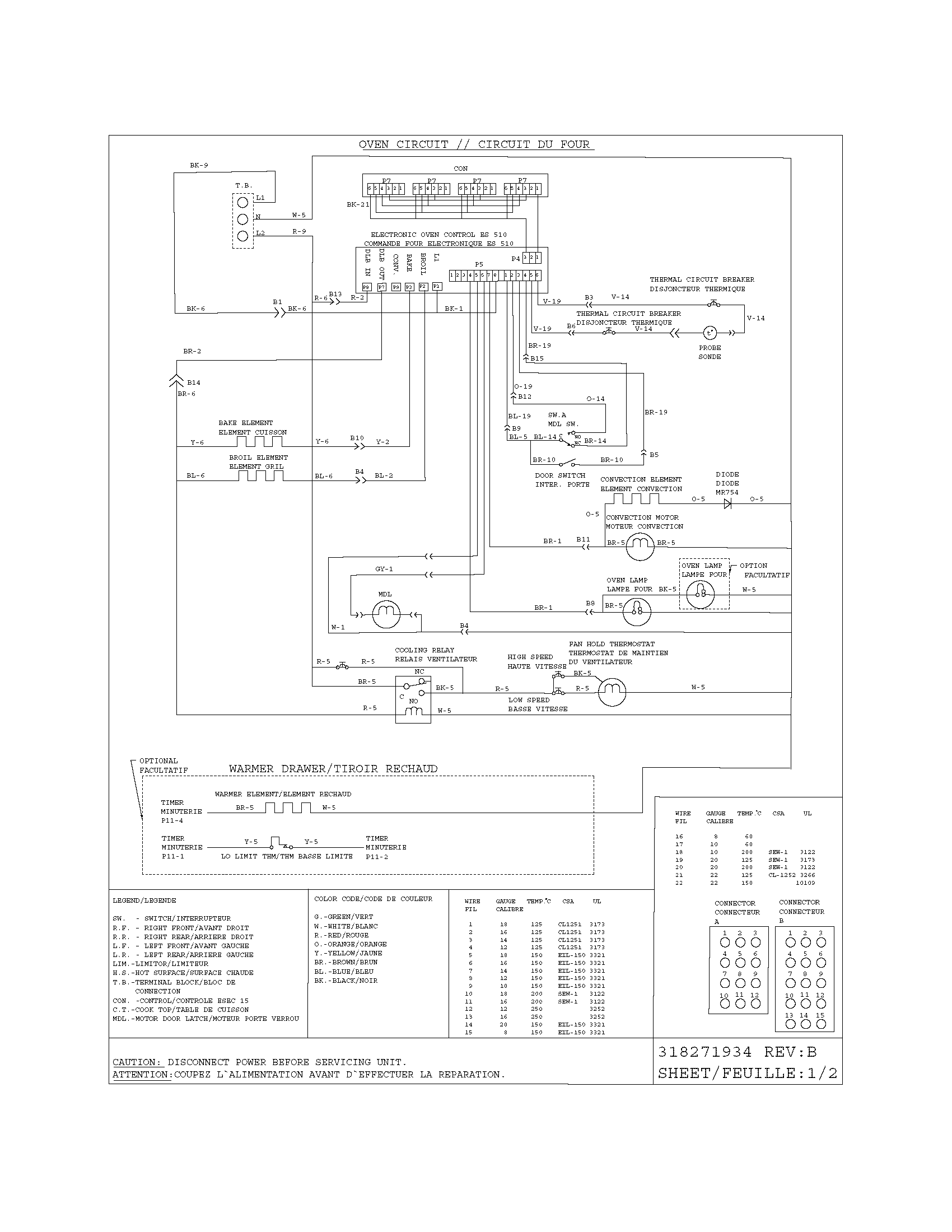 Frigidaire Oven Wiring Diagram Model Ples399ecf Schematic Diagrams Slide In Range Electric Genuine Parts