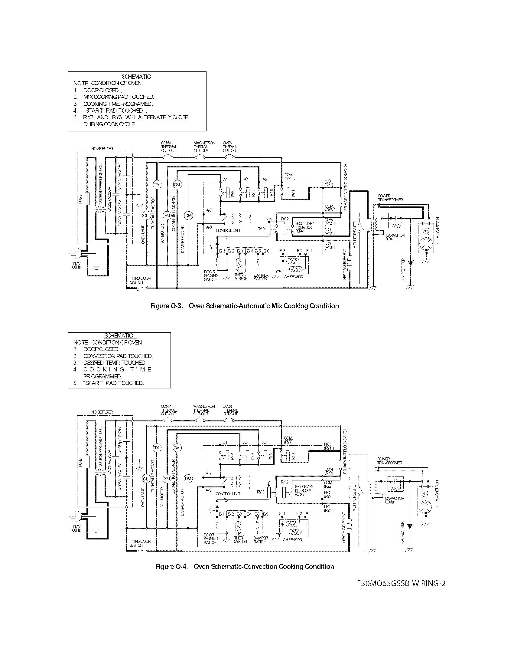 Electrolux E30MO65GSSB wiring schematic diagram