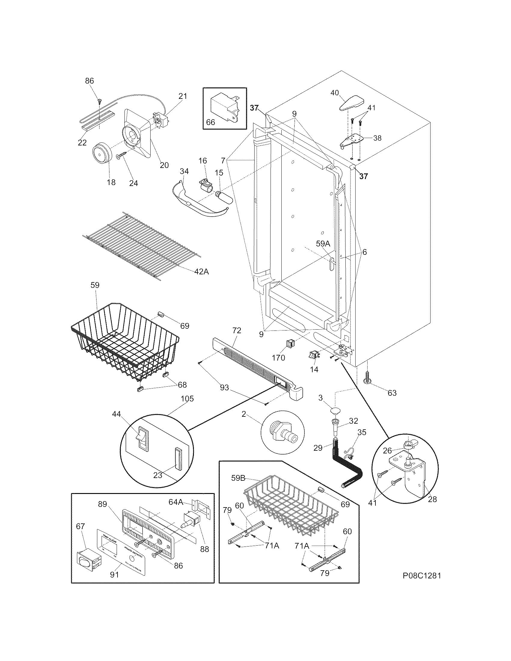 Crosley  Freezer   Parts