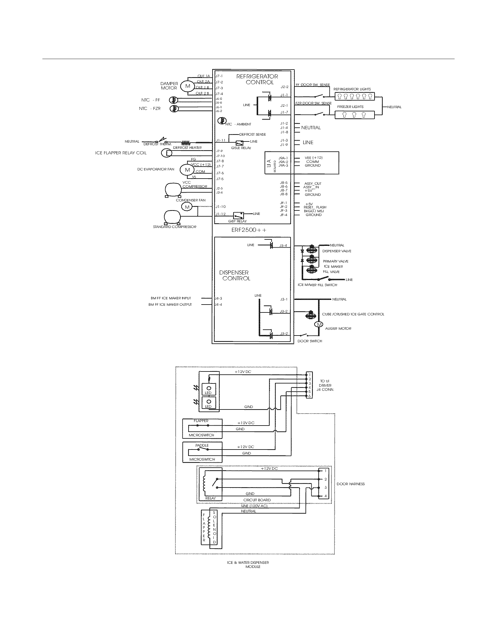 electrolux refrigerator wiring schematic parts