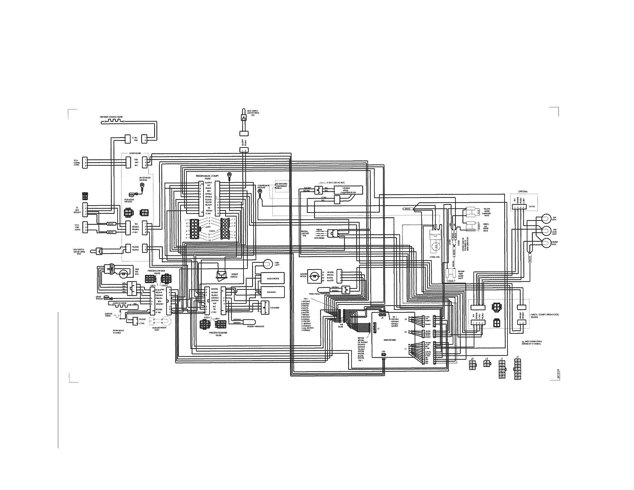 Electrolux  Refrigerator  Wiring diagram