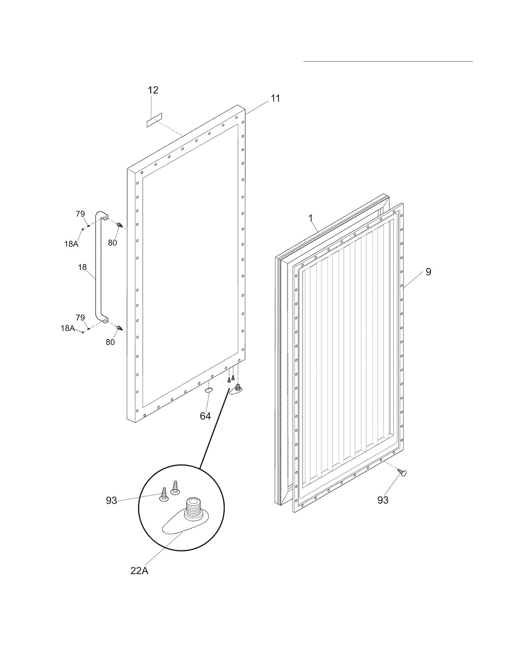 Frigidaire  Freezer  Door
