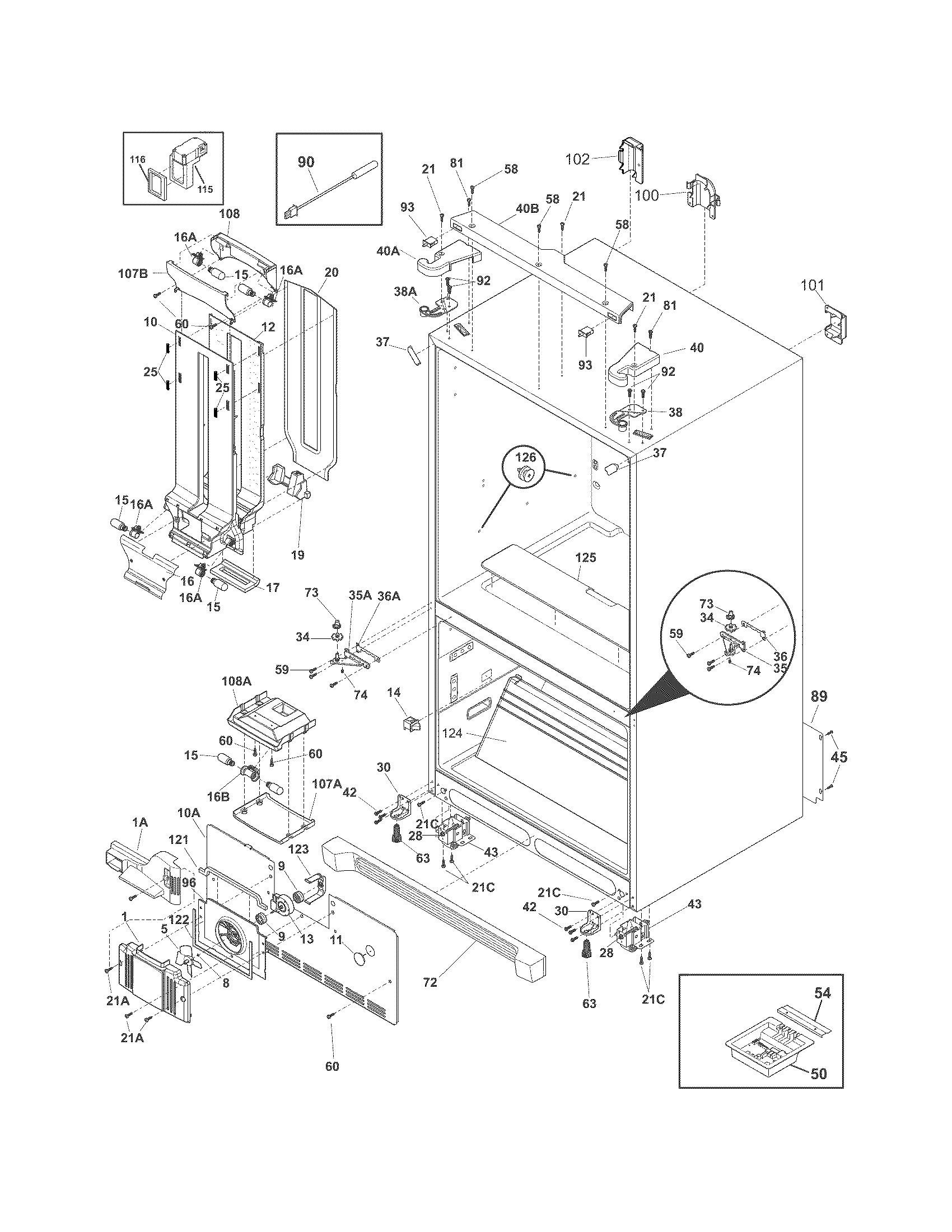 Crosley  Refrigerator  Cabinet