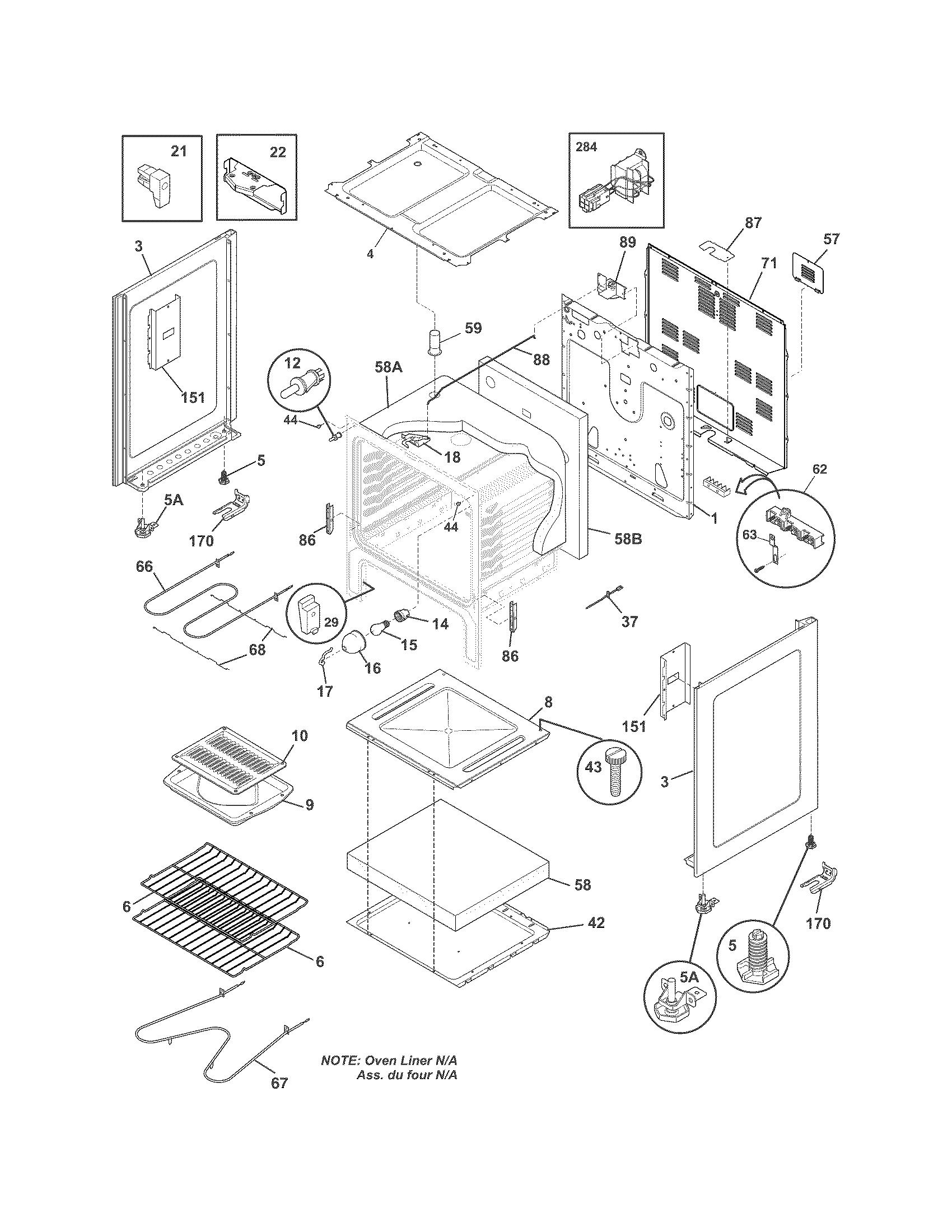White-Westinghouse  Range  Body