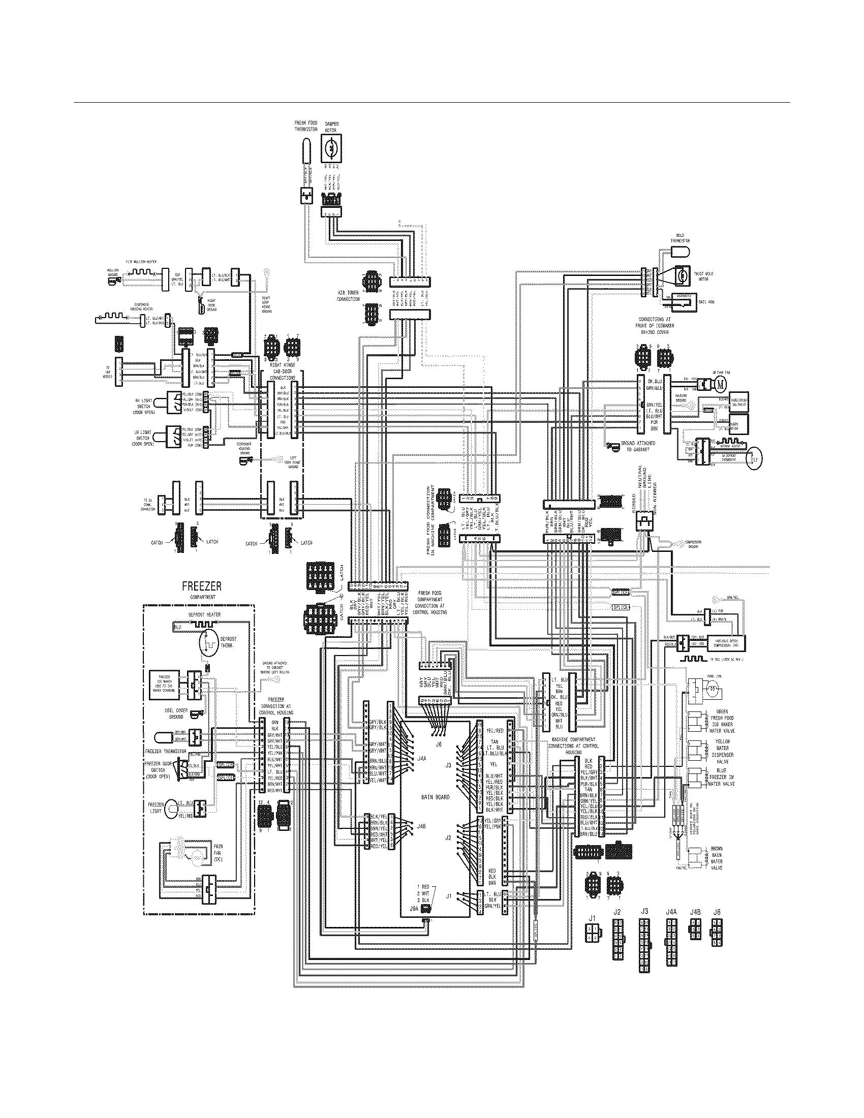 Crosley  Refrigerator  Wiring diagram