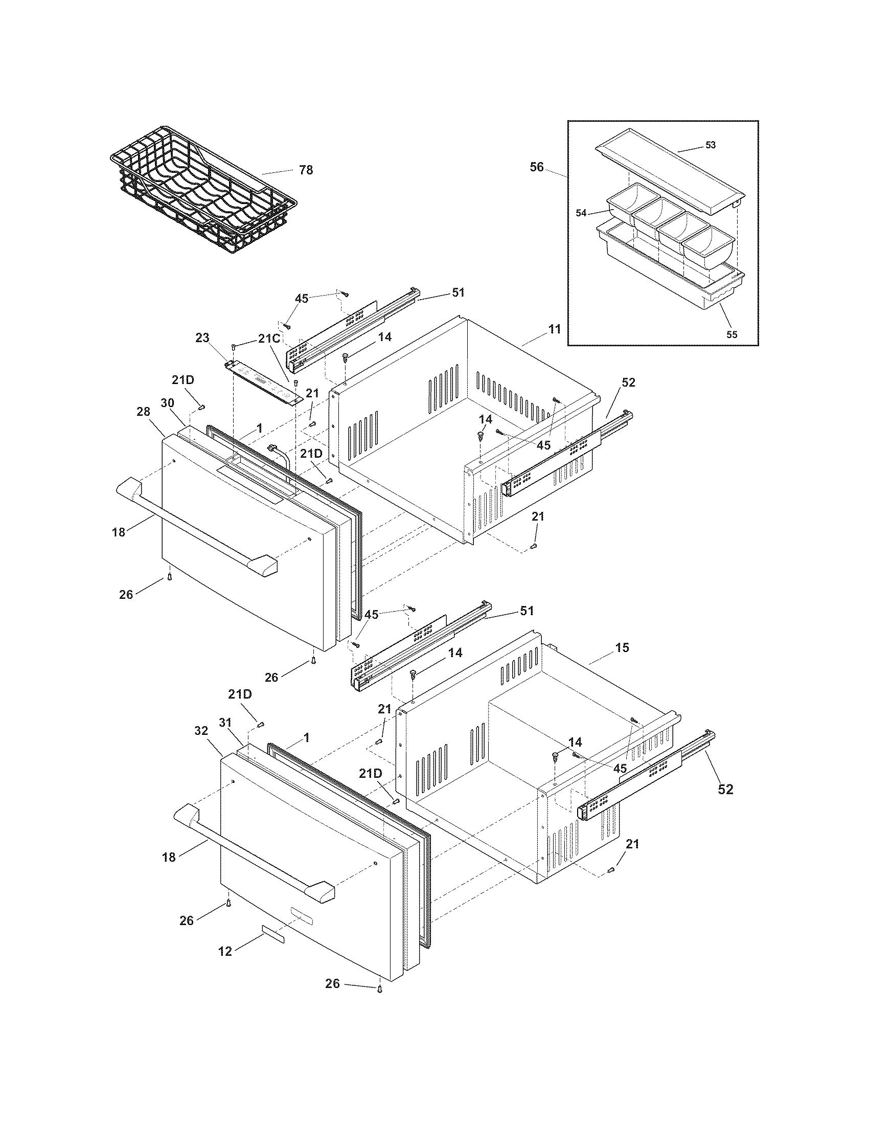 Electrolux  Drawer  Door