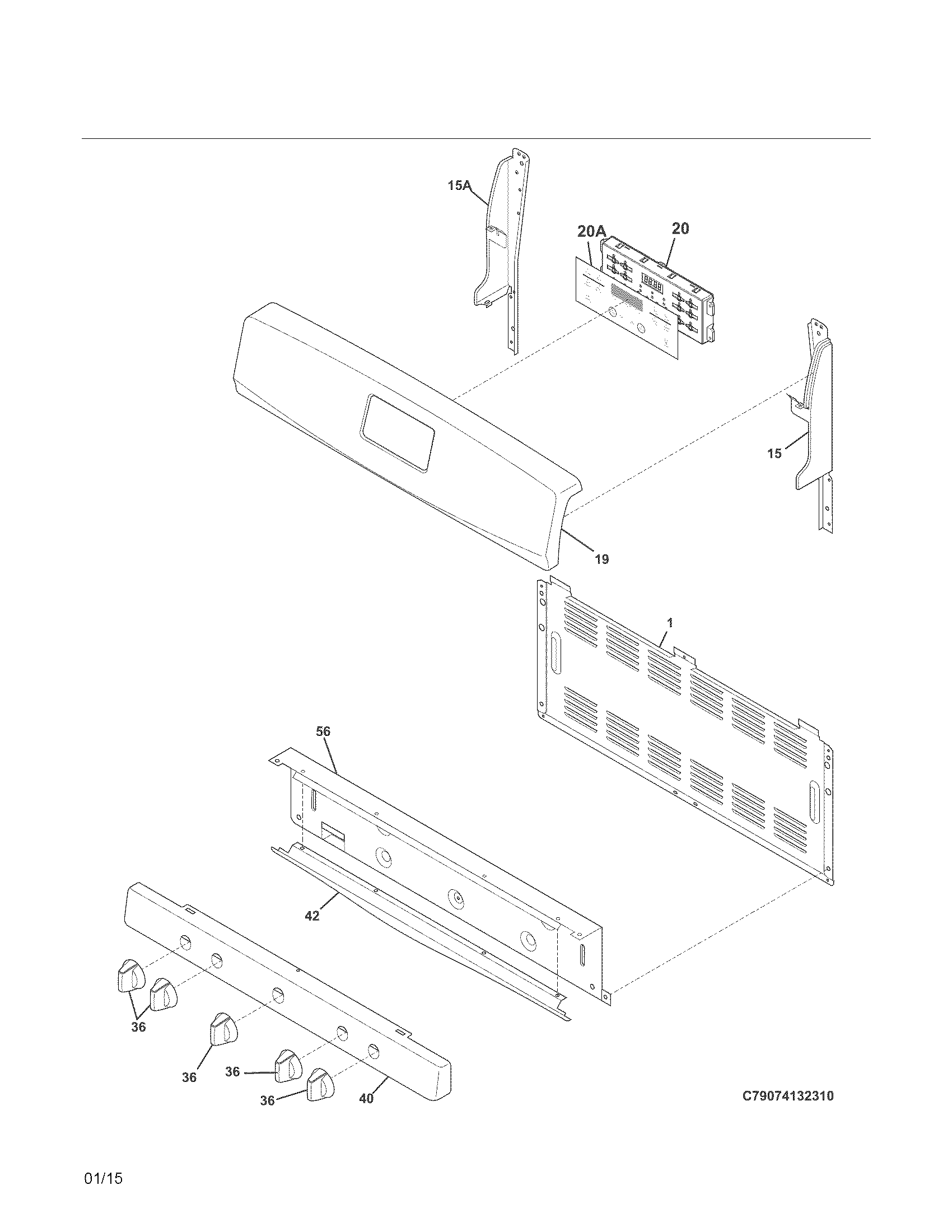 Kenmore 79074233311 backguard diagram
