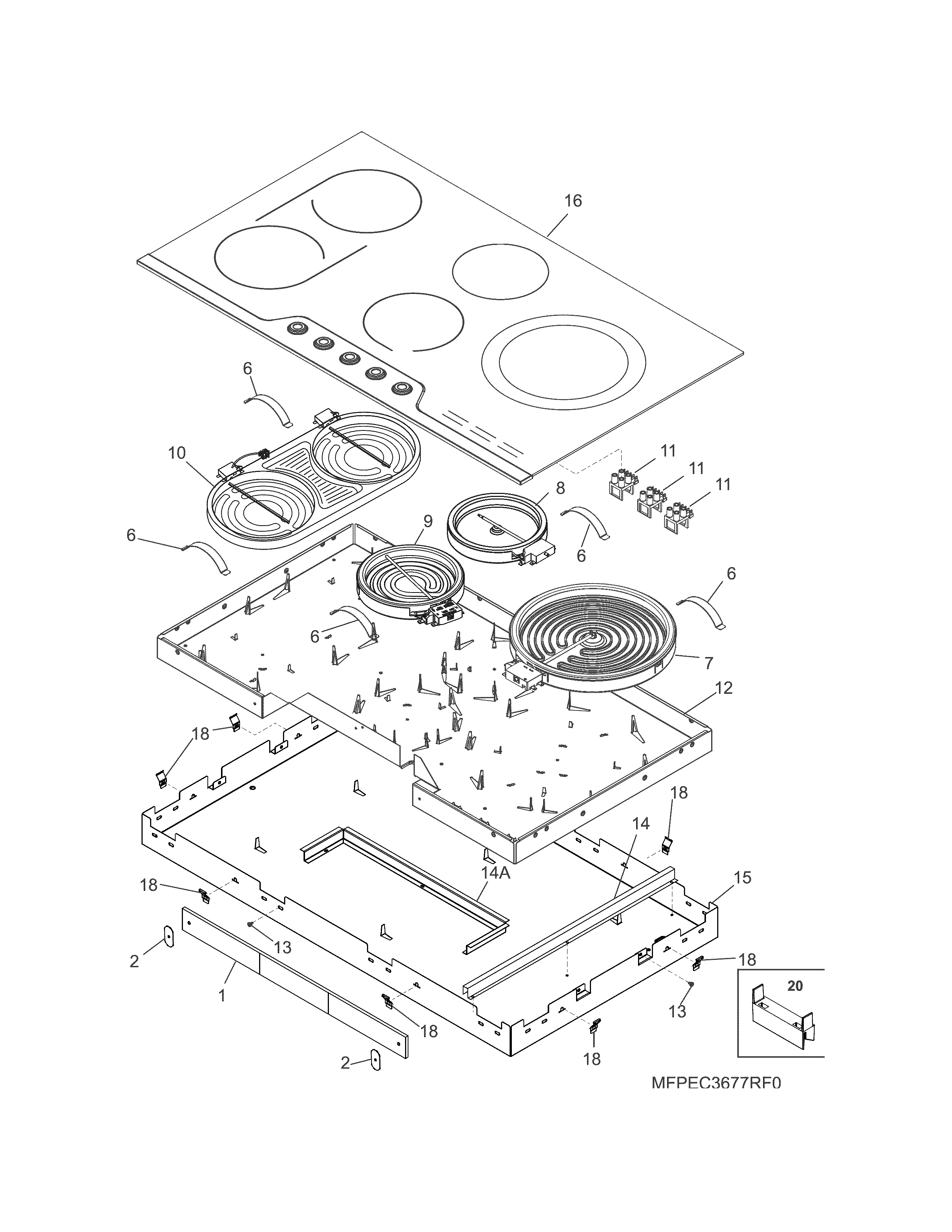 Frigidaire  Cooktop  Main top/surface units