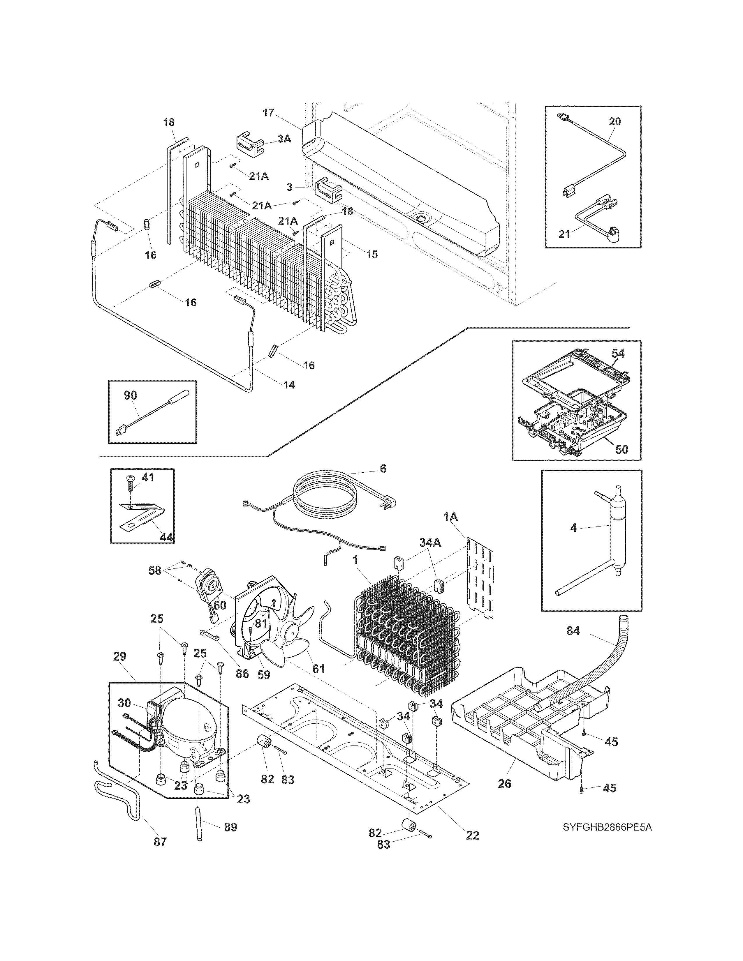 Frigidaire FGHB2866PF9A cooling system diagram
