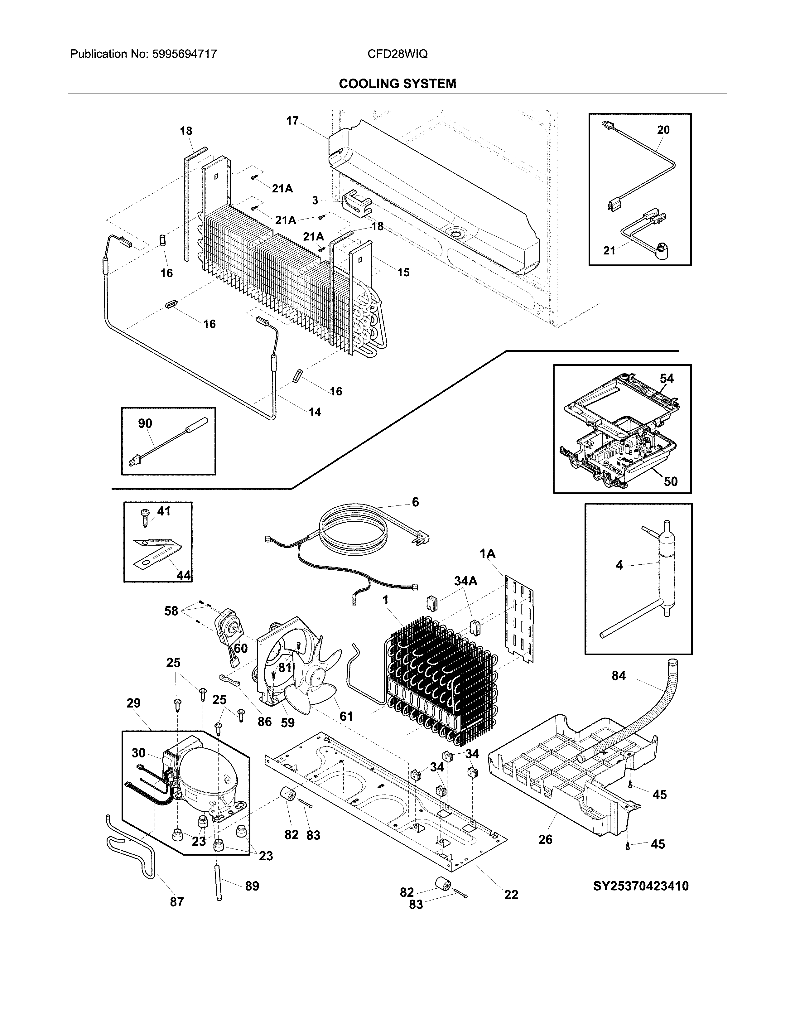 Crosley CFD28WIQW0 cooling system diagram