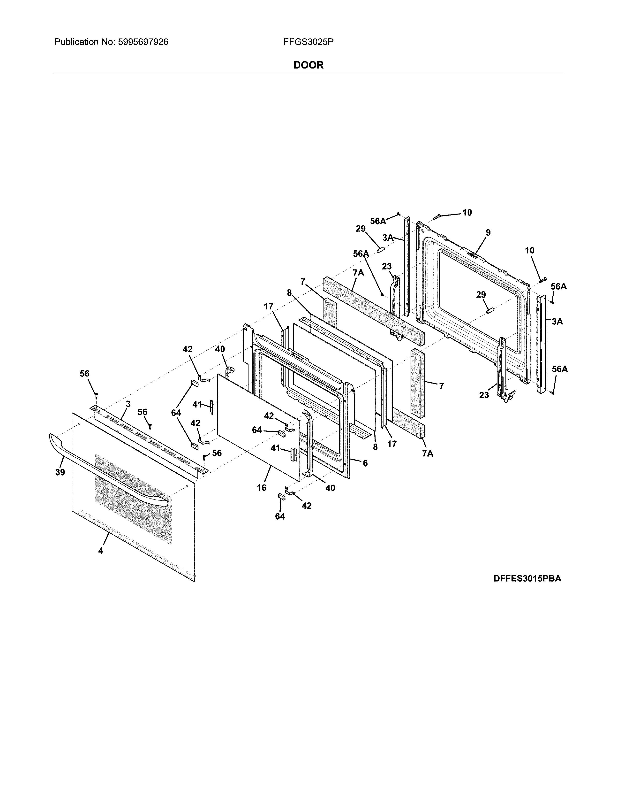 Frigidaire  Gas Range  Door