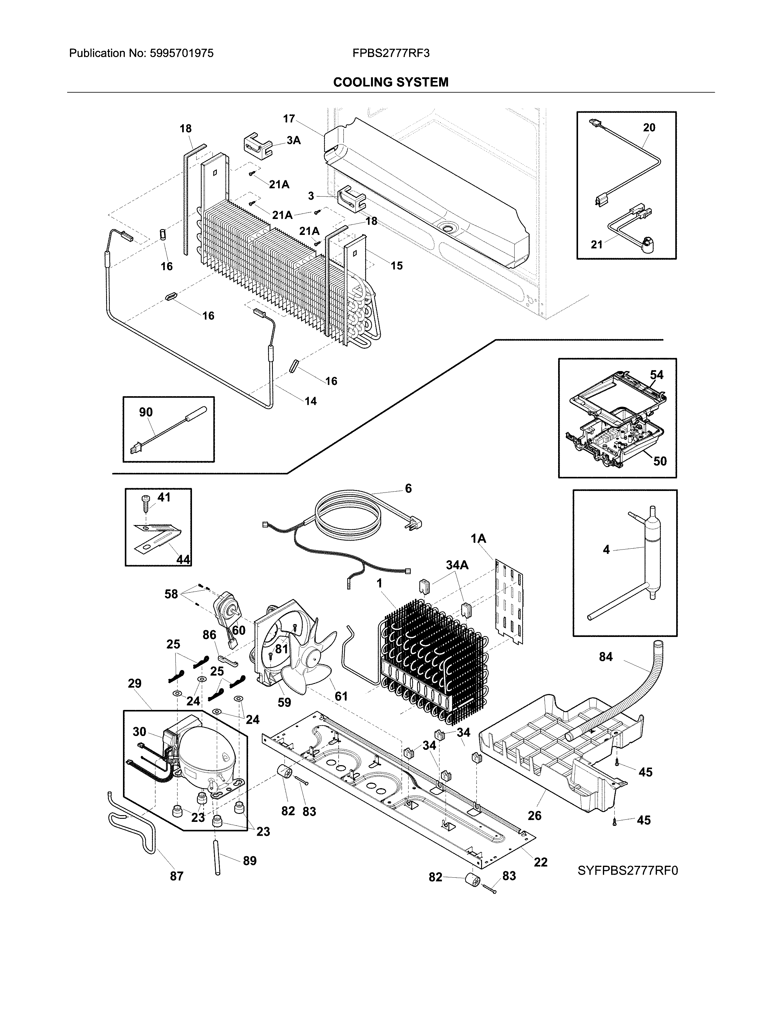 Frigidaire FPBS2777RF3 cooling system diagram