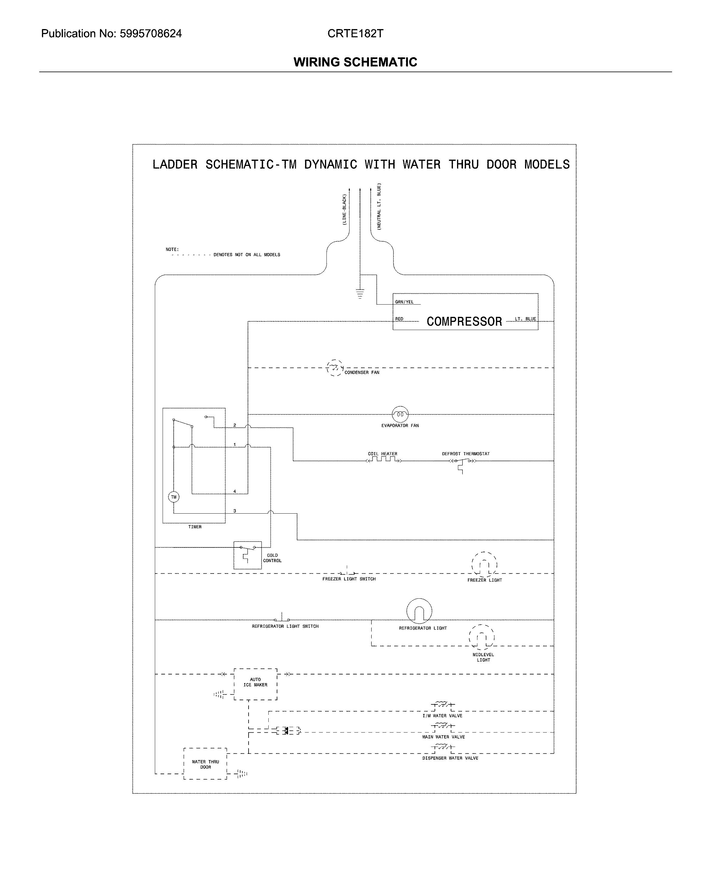 Crosley  Refrigerator  Wiring schematic