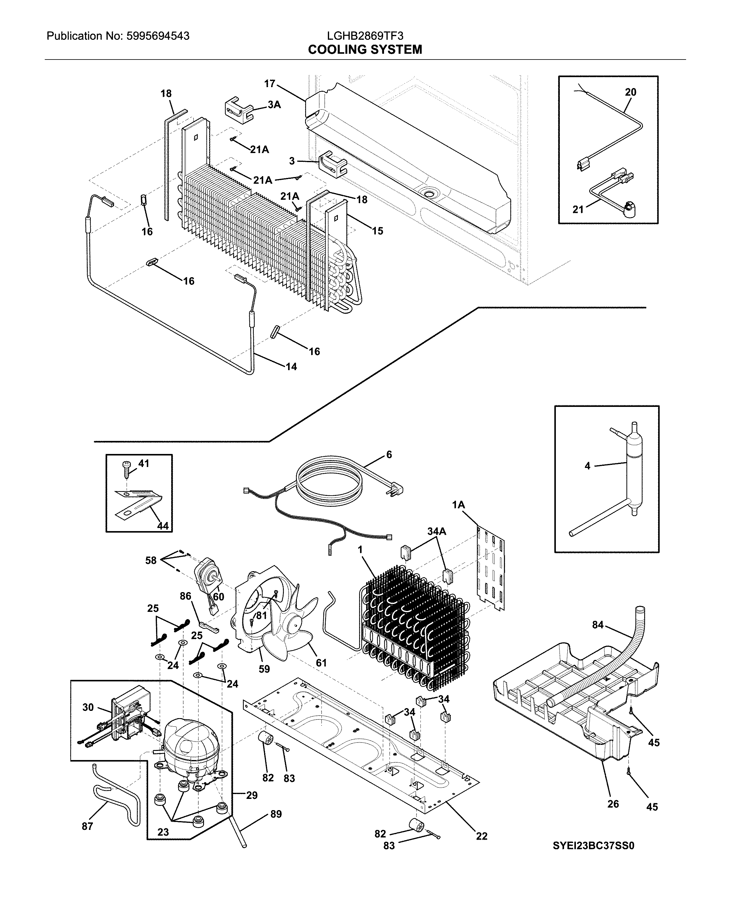 Frigidaire LGHB2869TF3 cooling system diagram