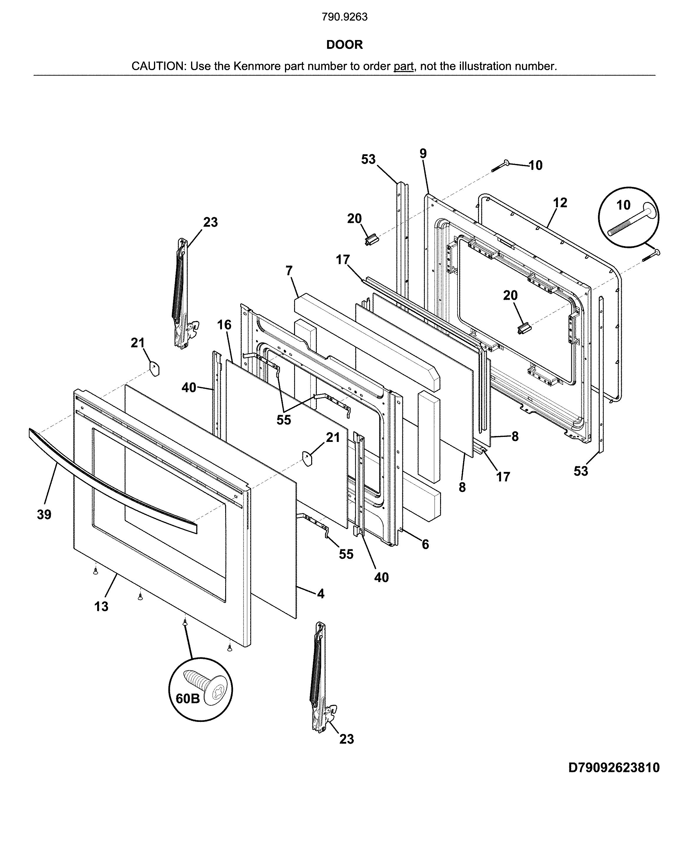 Kenmore  Electric Range  Door